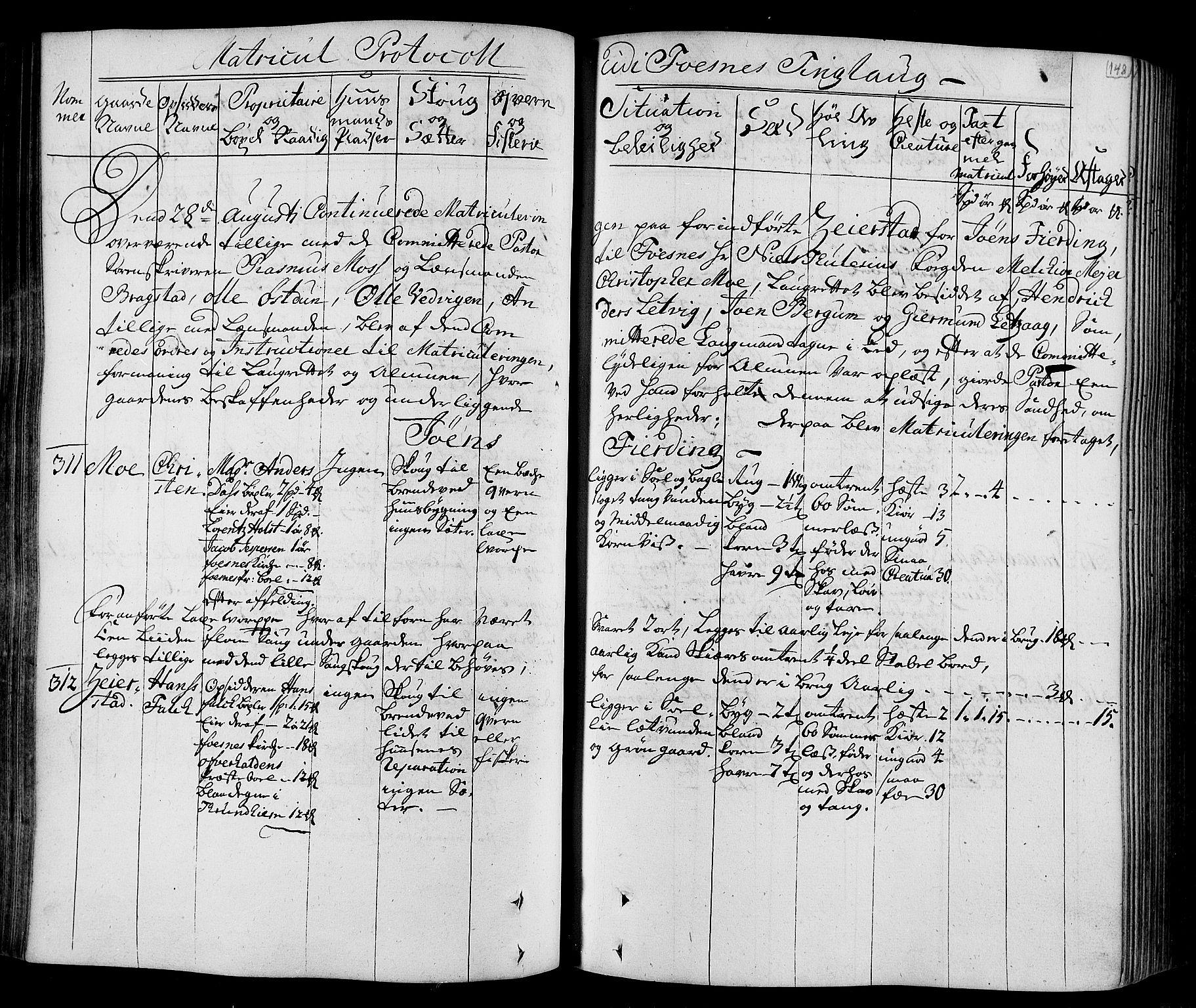 RA, Rentekammeret inntil 1814, Realistisk ordnet avdeling, N/Nb/Nbf/L0168: Namdalen eksaminasjonsprotokoll, 1723, s. 147b-148a