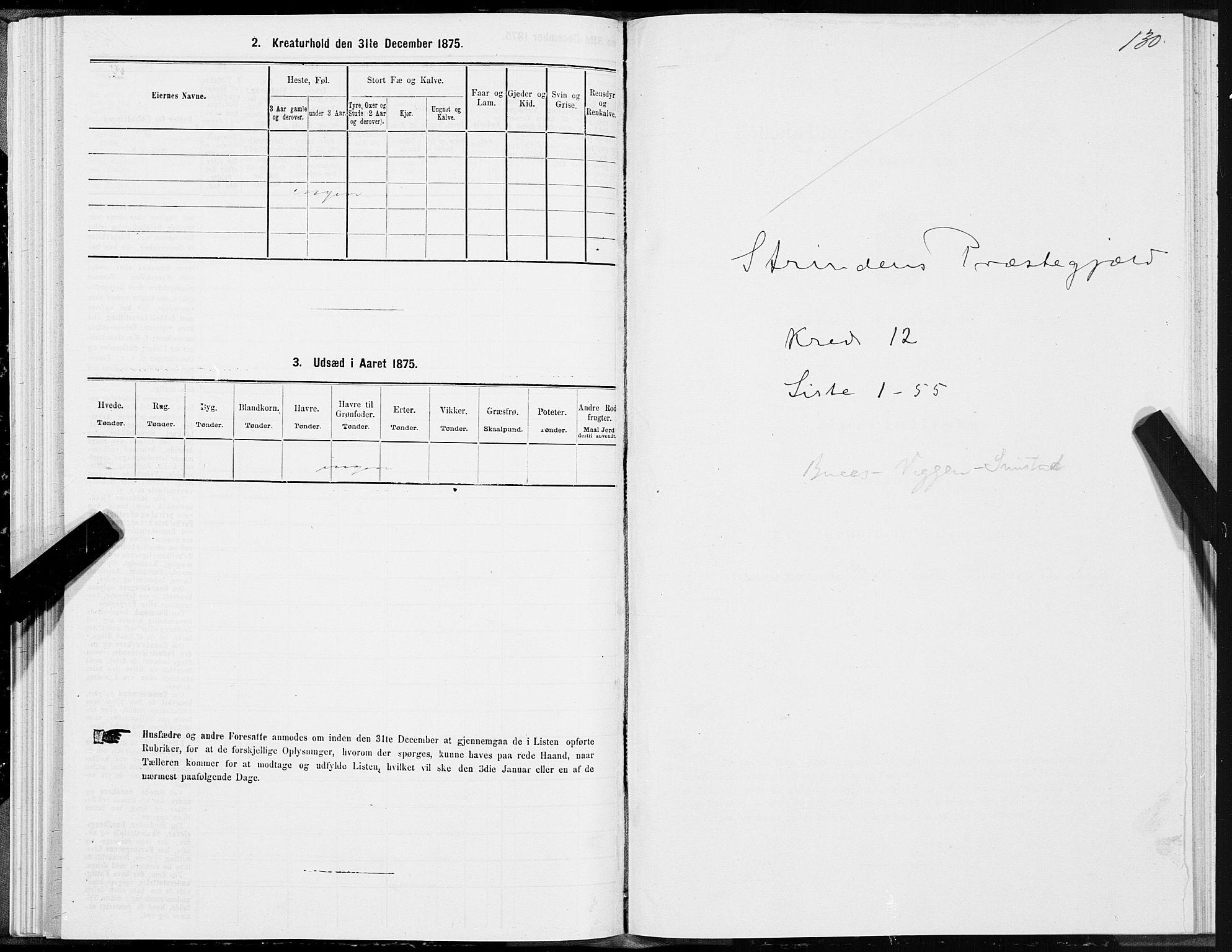 SAT, Folketelling 1875 for 1660P Strinda prestegjeld, 1875, s. 7130