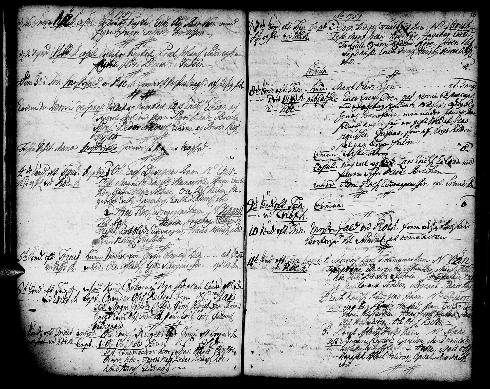 SAT, Ministerialprotokoller, klokkerbøker og fødselsregistre - Møre og Romsdal, 551/L0621: Ministerialbok nr. 551A01, 1757-1803, s. 16