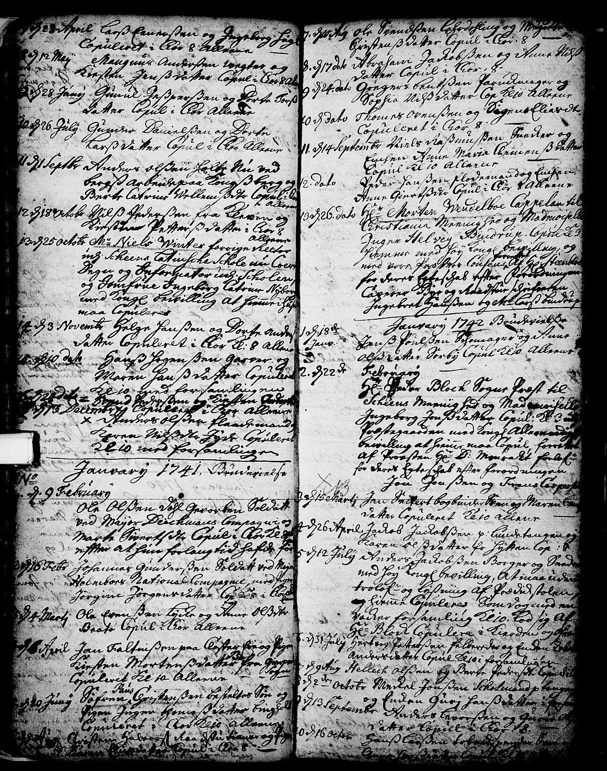 SAKO, Skien kirkebøker, F/Fa/L0002: Ministerialbok nr. 2, 1716-1757, s. 40