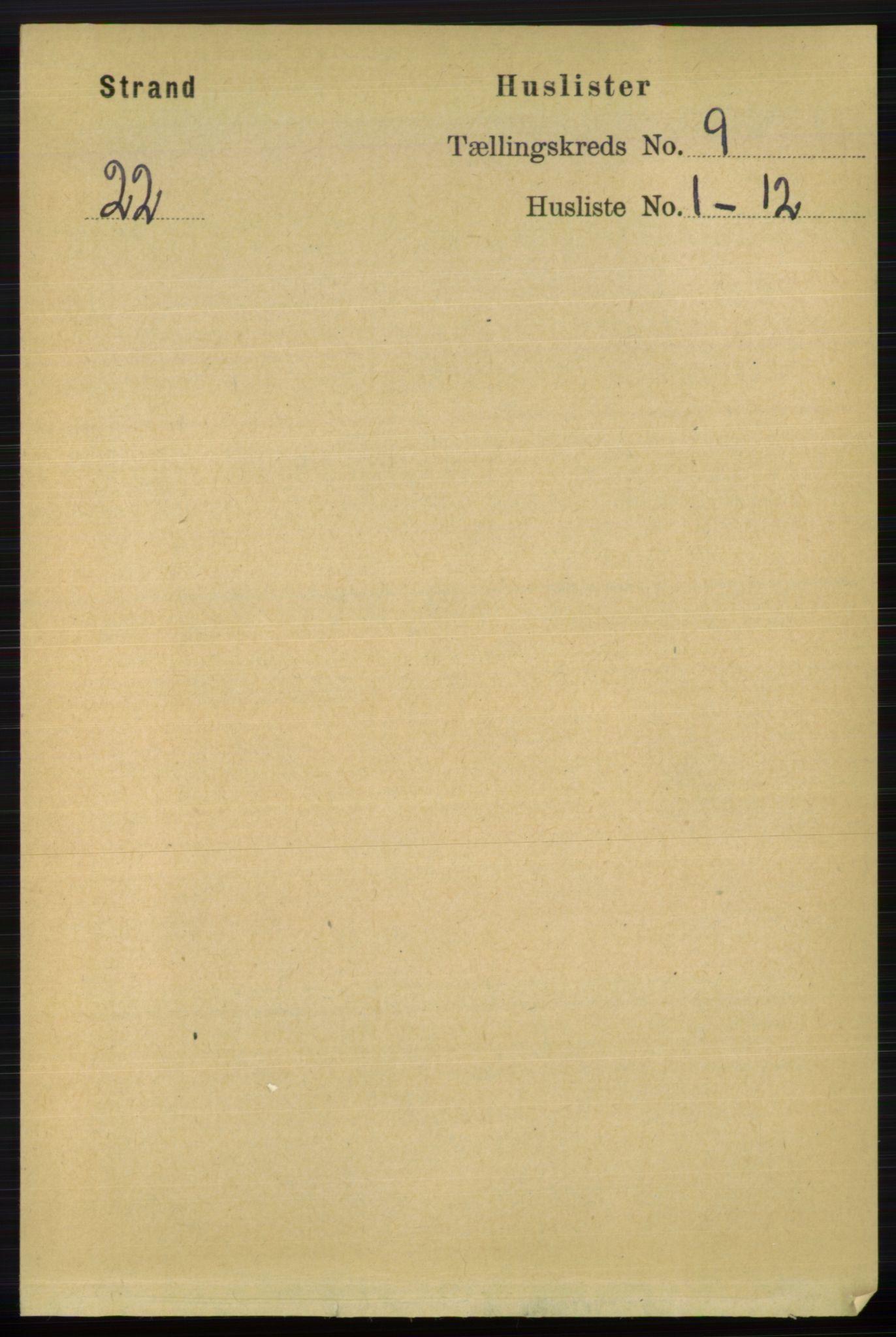 RA, Folketelling 1891 for 1130 Strand herred, 1891, s. 2610