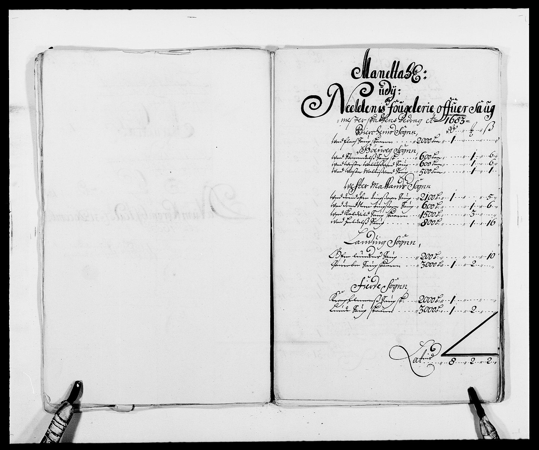 RA, Rentekammeret inntil 1814, Reviderte regnskaper, Fogderegnskap, R39/L2305: Fogderegnskap Nedenes, 1683, s. 119