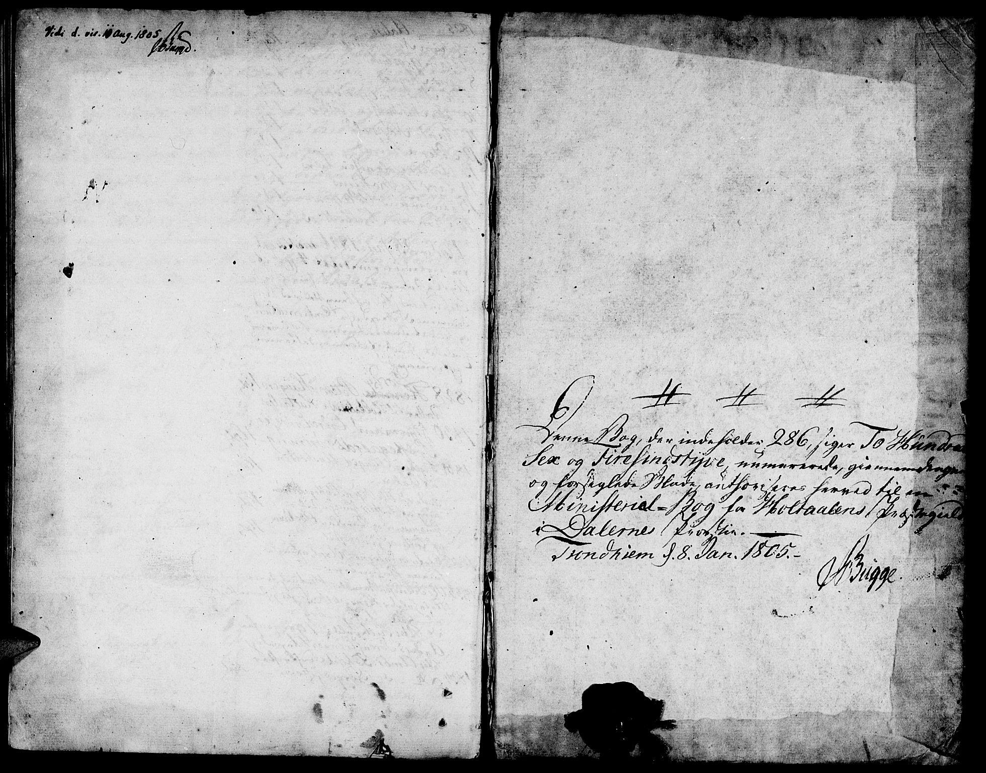 SAT, Ministerialprotokoller, klokkerbøker og fødselsregistre - Sør-Trøndelag, 685/L0953: Ministerialbok nr. 685A02, 1805-1816
