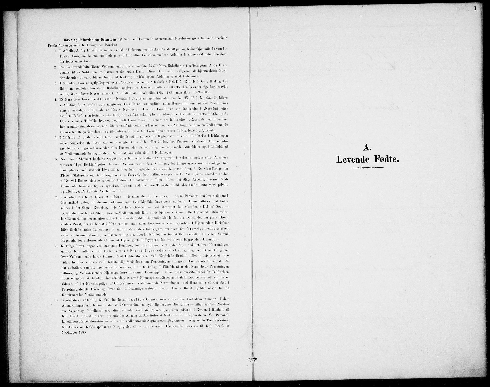 SAKO, Rauland kirkebøker, G/Gb/L0002: Klokkerbok nr. II 2, 1887-1937, s. 1