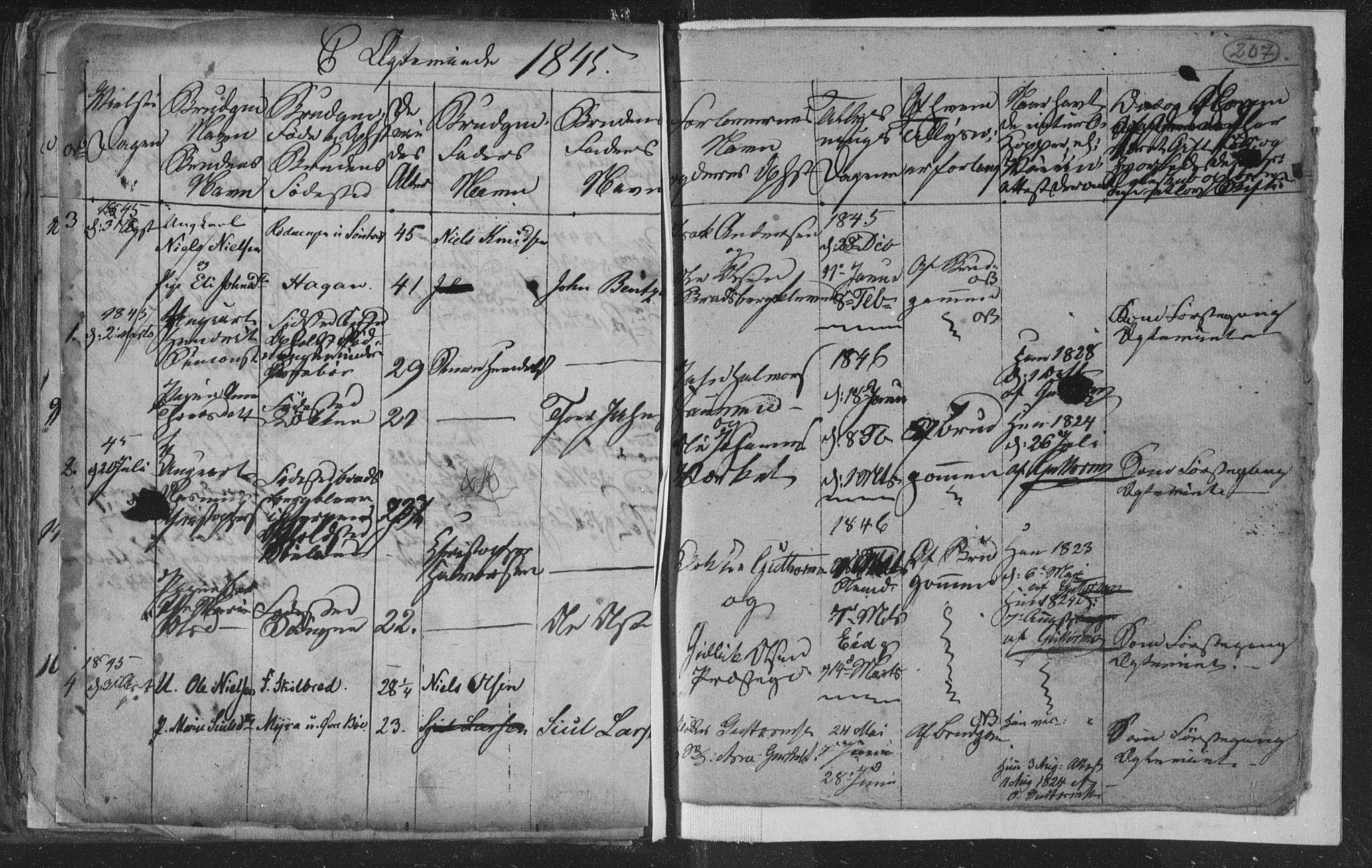 SAKO, Siljan kirkebøker, G/Ga/L0001: Klokkerbok nr. 1, 1827-1847, s. 207