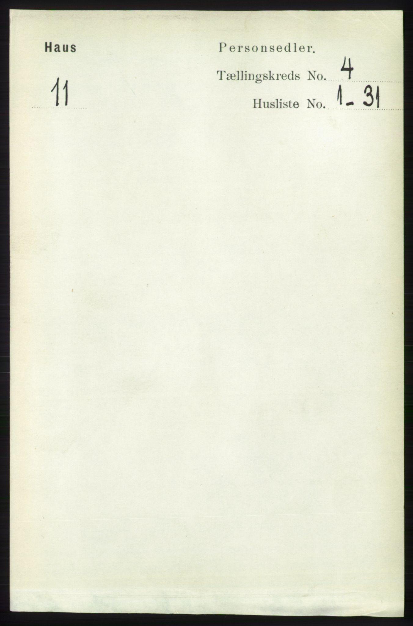RA, Folketelling 1891 for 1250 Haus herred, 1891, s. 1403