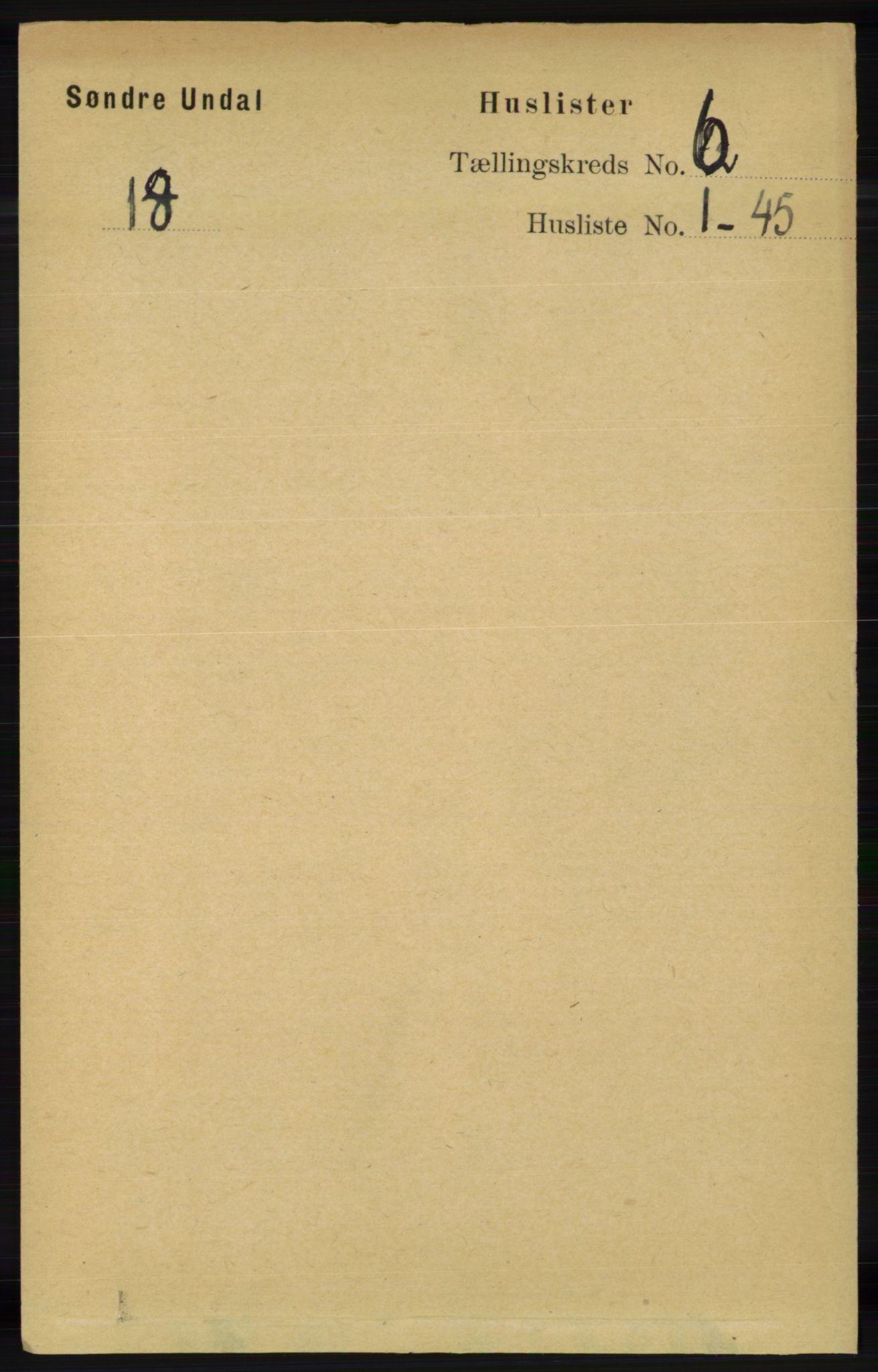 RA, Folketelling 1891 for 1029 Sør-Audnedal herred, 1891, s. 2236