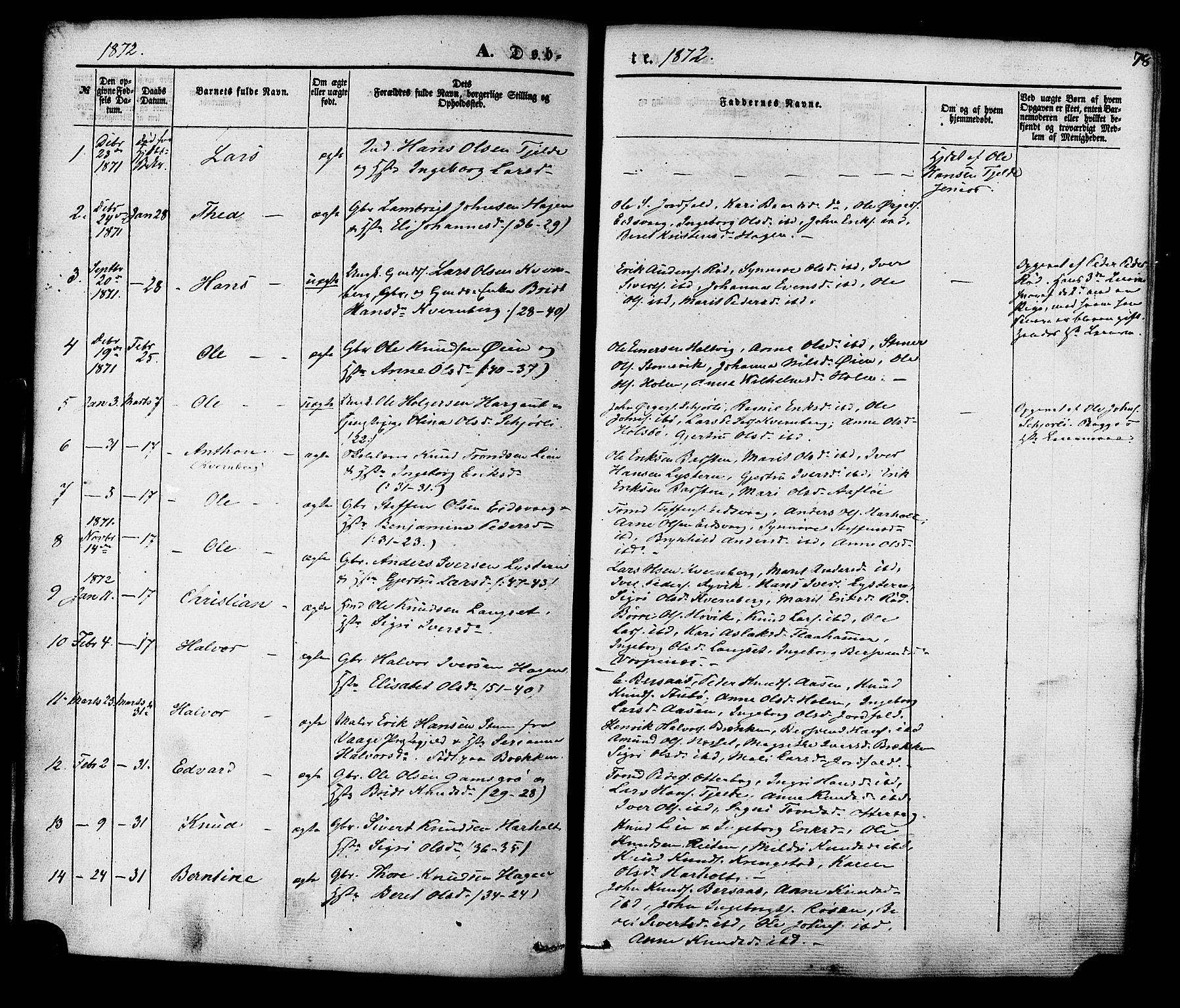 SAT, Ministerialprotokoller, klokkerbøker og fødselsregistre - Møre og Romsdal, 551/L0625: Ministerialbok nr. 551A05, 1846-1879, s. 78