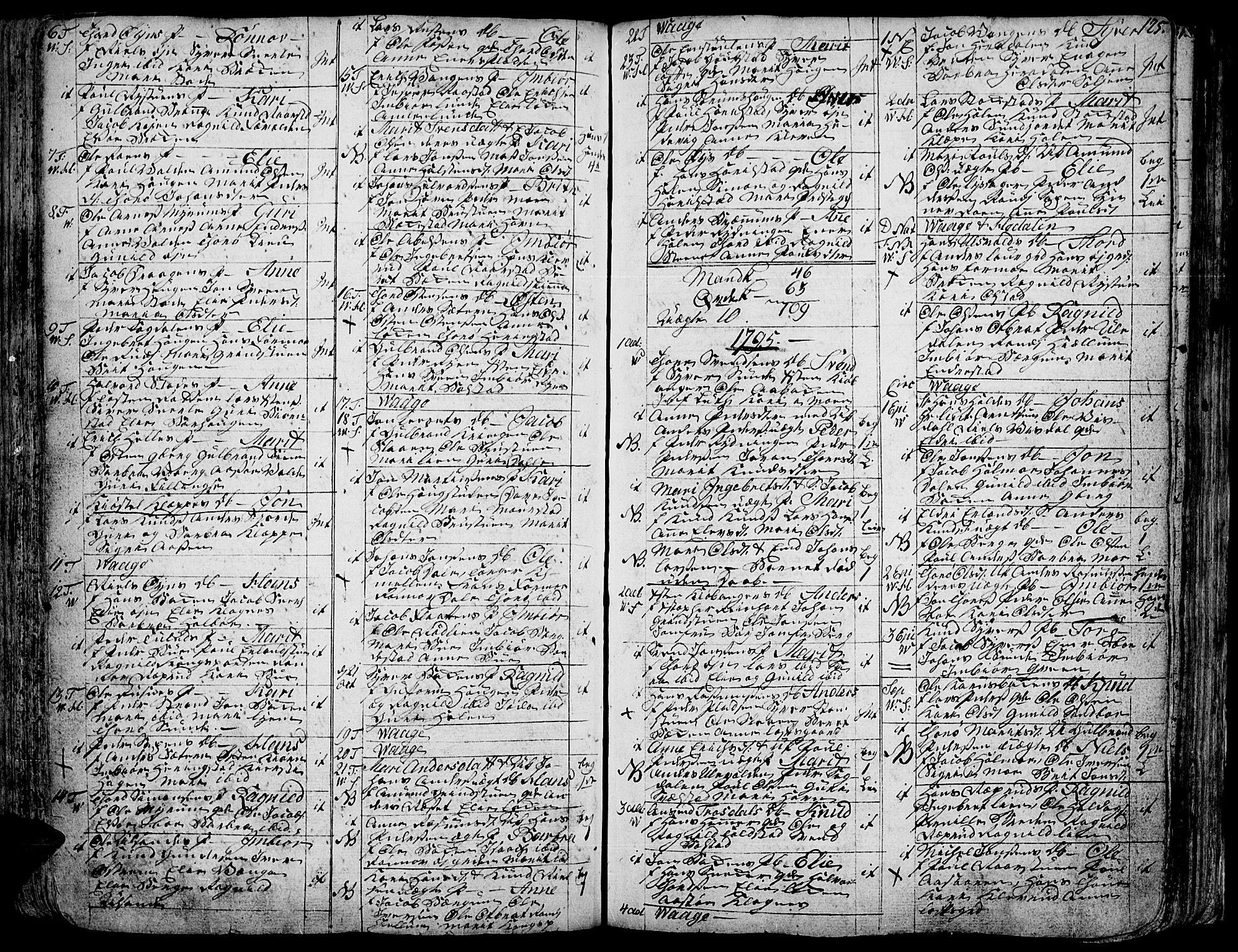 SAH, Vågå prestekontor, Ministerialbok nr. 1, 1739-1810, s. 125