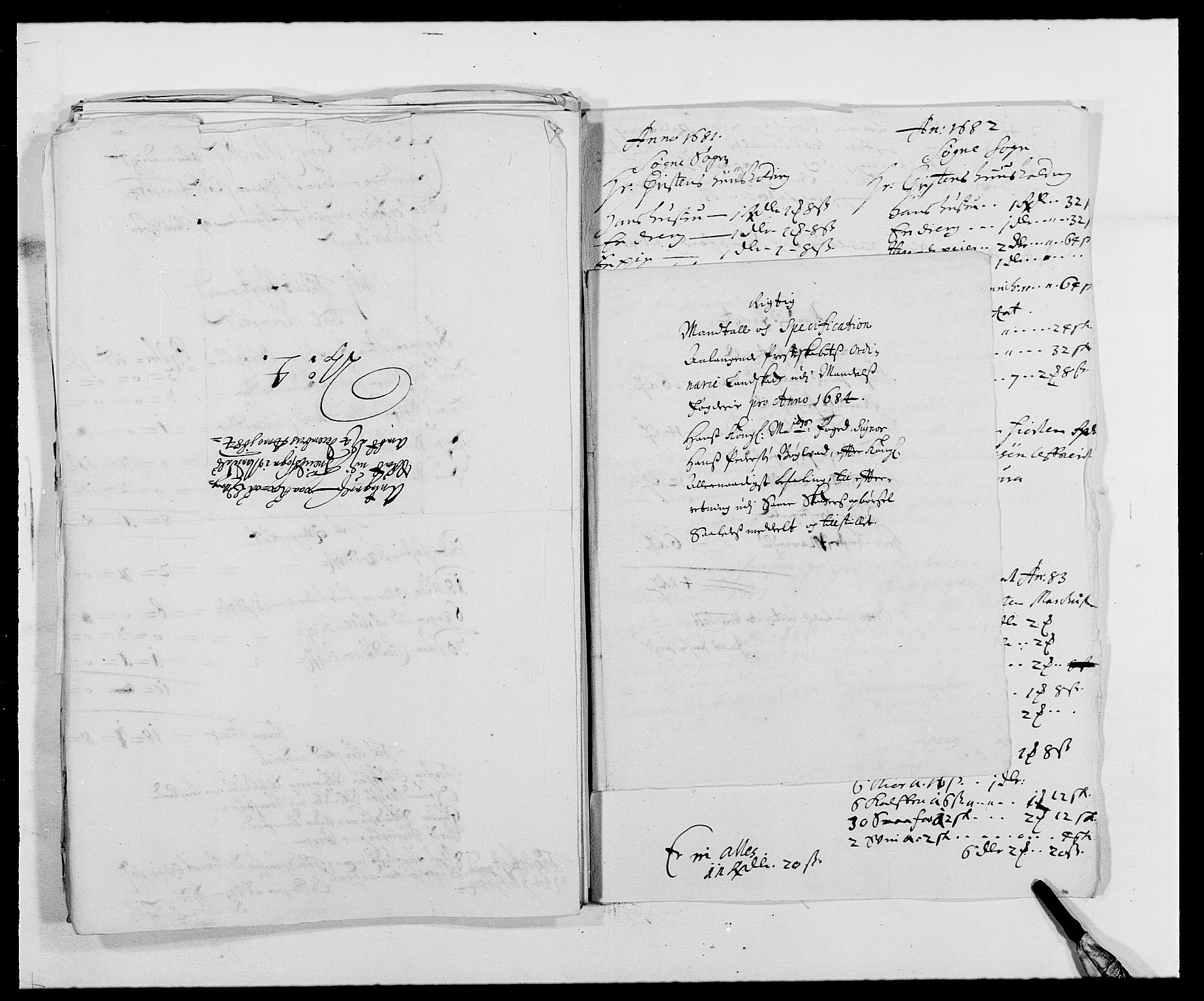 RA, Rentekammeret inntil 1814, Reviderte regnskaper, Fogderegnskap, R42/L2541: Mandal fogderi, 1681-1684, s. 300