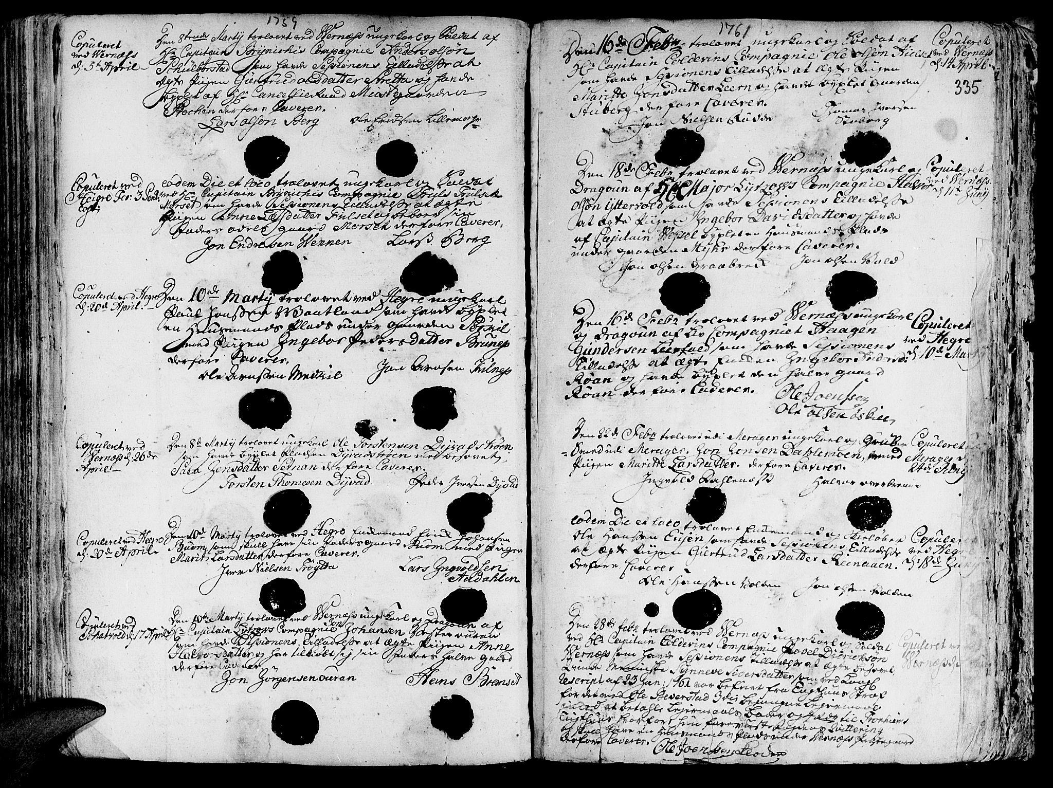 SAT, Ministerialprotokoller, klokkerbøker og fødselsregistre - Nord-Trøndelag, 709/L0057: Ministerialbok nr. 709A05, 1755-1780, s. 335