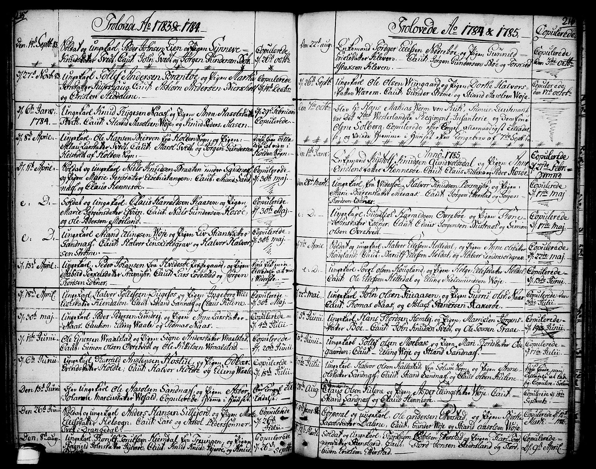 SAKO, Drangedal kirkebøker, F/Fa/L0003: Ministerialbok nr. 3, 1768-1814, s. 215-216