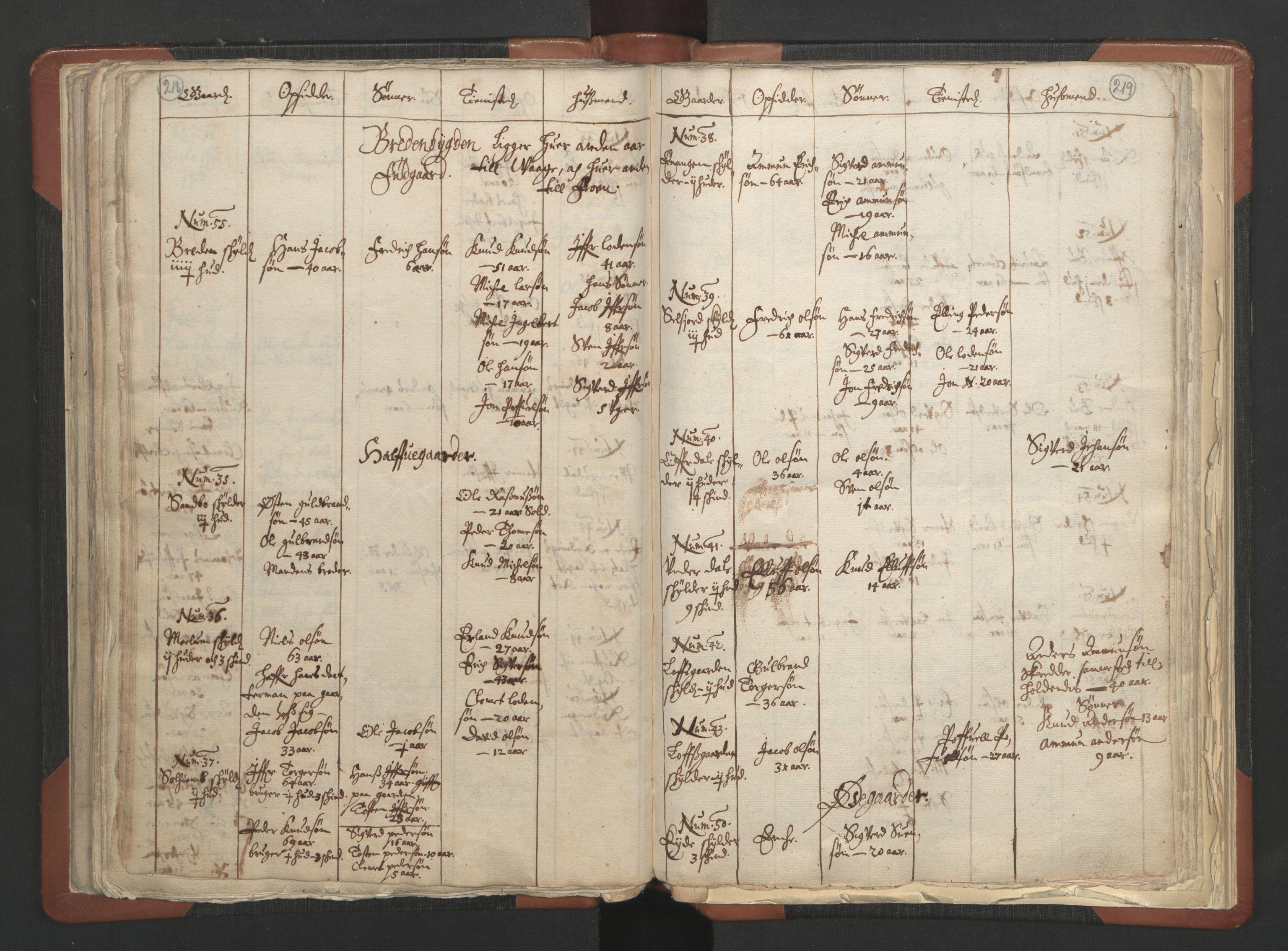 RA, Sogneprestenes manntall 1664-1666, nr. 6: Gudbrandsdal prosti, 1664-1666, s. 218-219