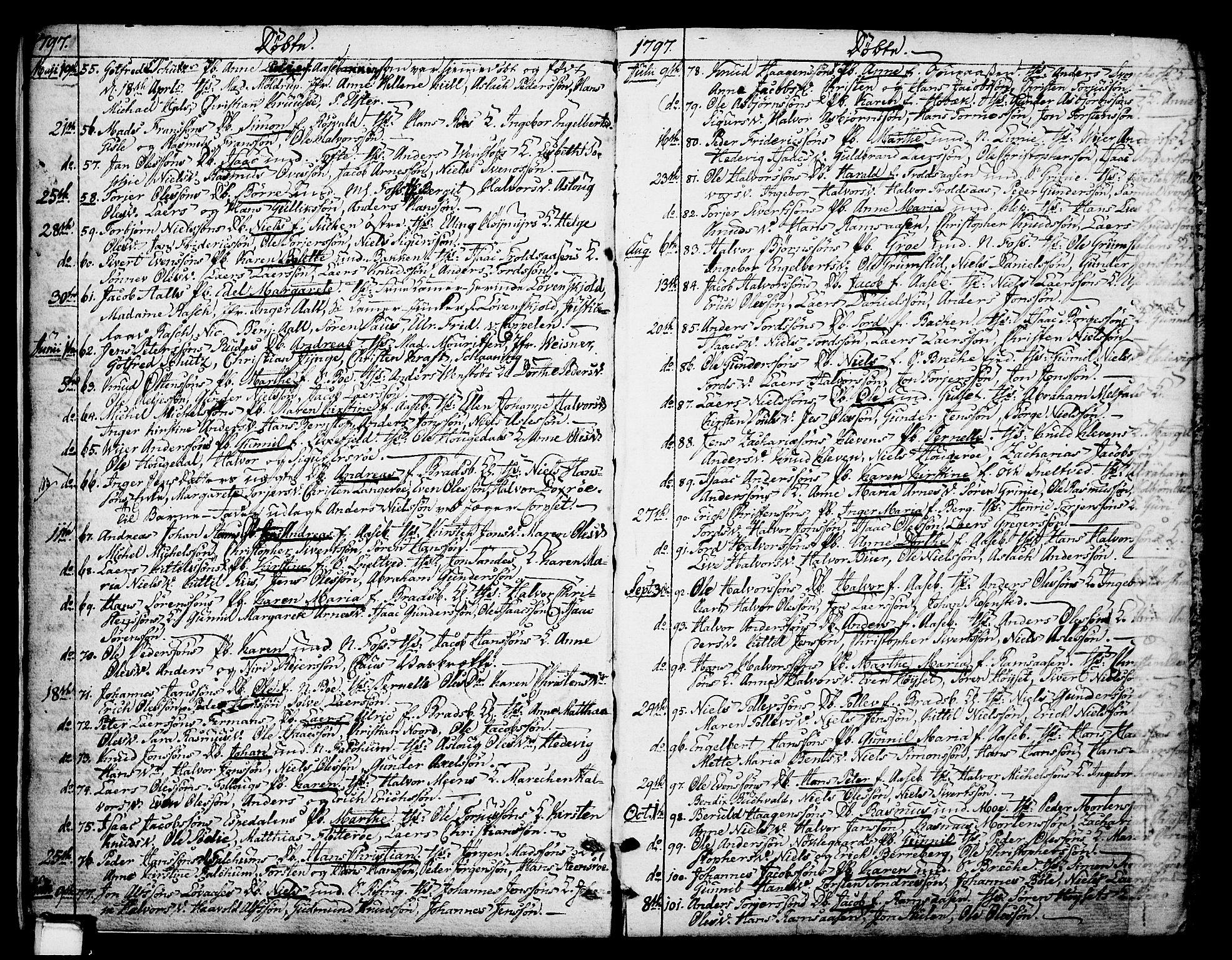 SAKO, Gjerpen kirkebøker, F/Fa/L0003: Ministerialbok nr. 3, 1796-1814, s. 7