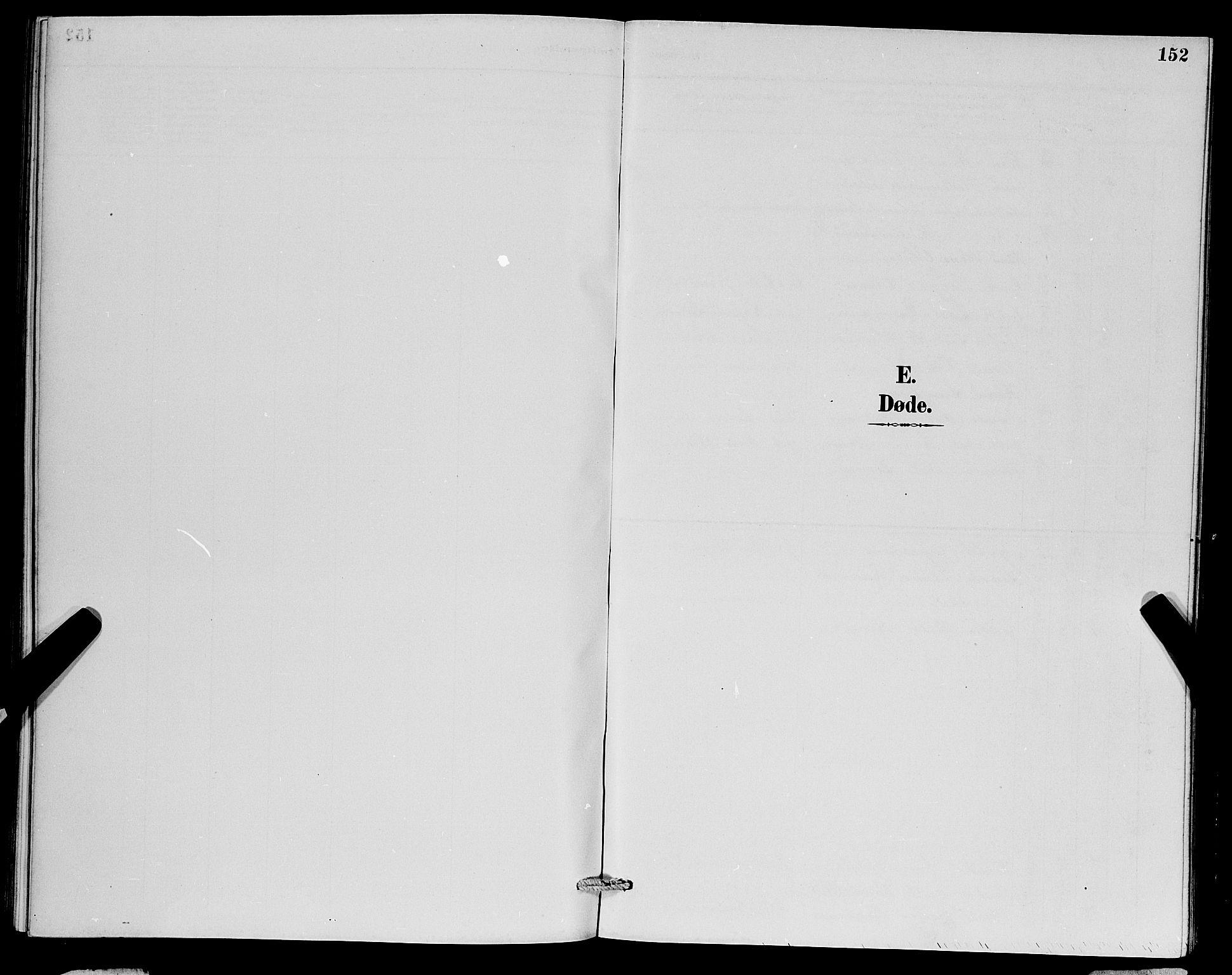 SAB, Herdla Sokneprestembete, H/Hab: Klokkerbok nr. A 3, 1889-1899, s. 152