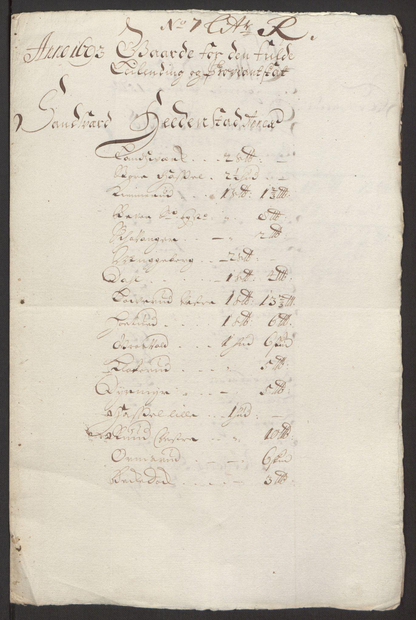 RA, Rentekammeret inntil 1814, Reviderte regnskaper, Fogderegnskap, R24/L1575: Fogderegnskap Numedal og Sandsvær, 1692-1695, s. 147