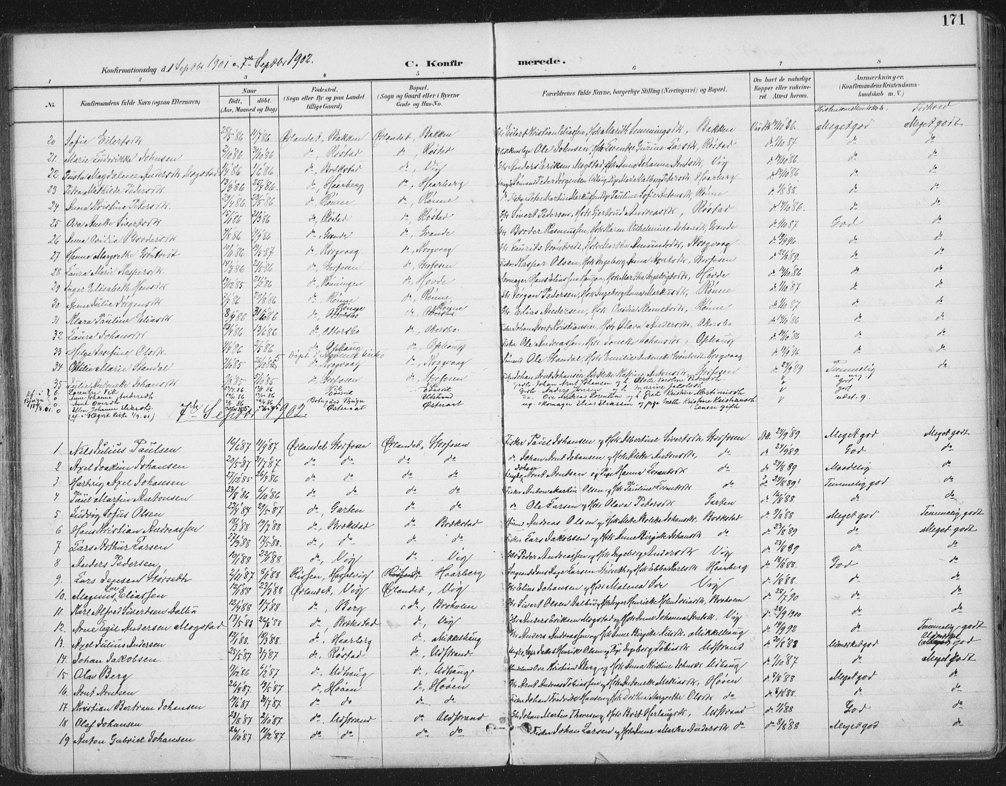 SAT, Ministerialprotokoller, klokkerbøker og fødselsregistre - Sør-Trøndelag, 659/L0743: Ministerialbok nr. 659A13, 1893-1910, s. 171