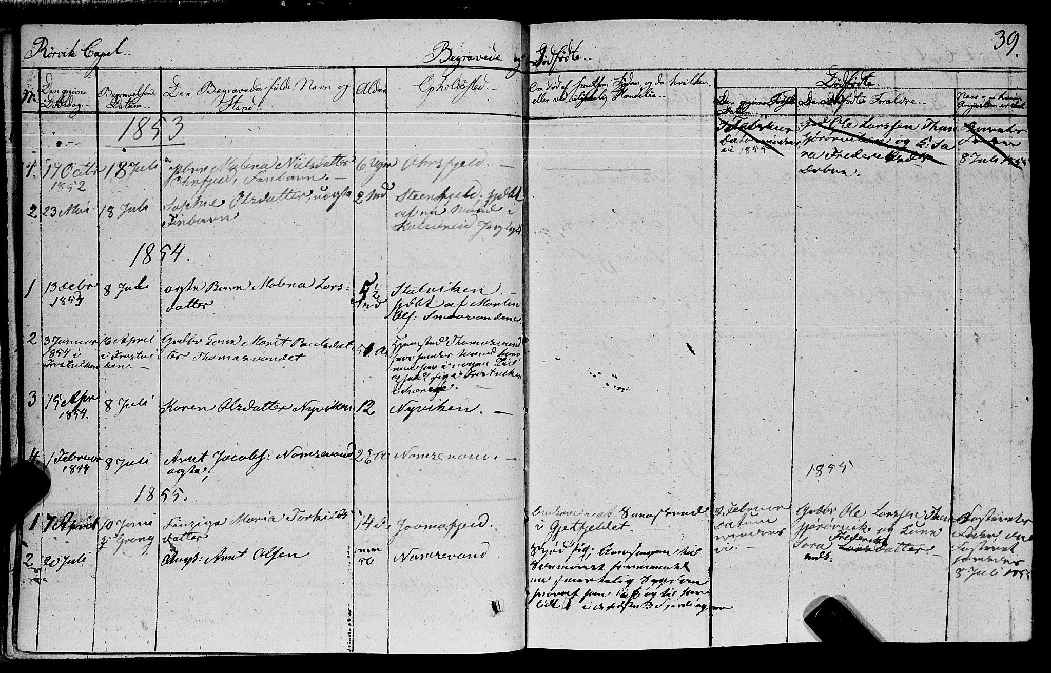 SAT, Ministerialprotokoller, klokkerbøker og fødselsregistre - Nord-Trøndelag, 762/L0538: Ministerialbok nr. 762A02 /1, 1833-1879, s. 39