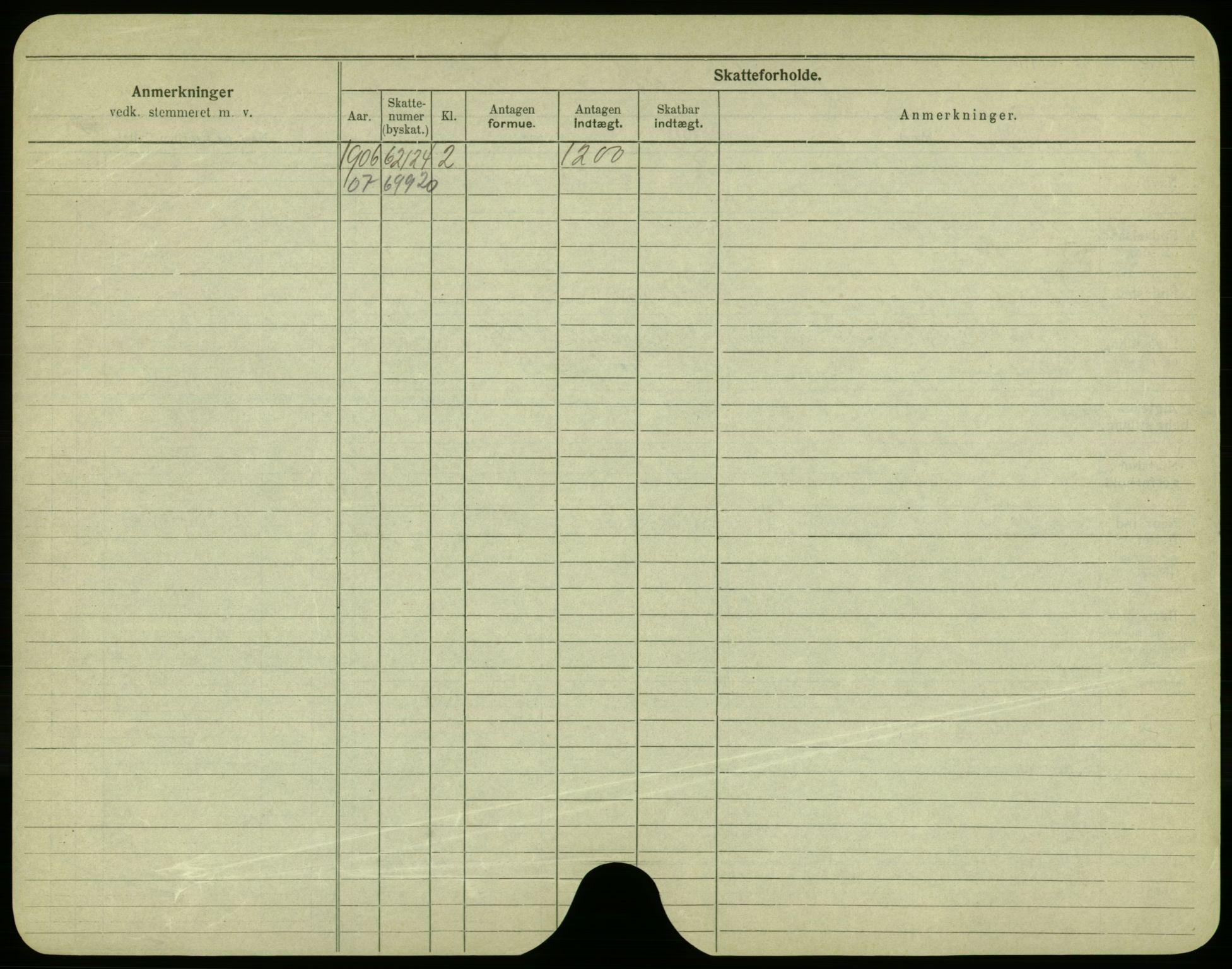 SAO, Oslo folkeregister, Registerkort, F/Fa/Fac/L0003: Menn, 1906-1914, s. 51b