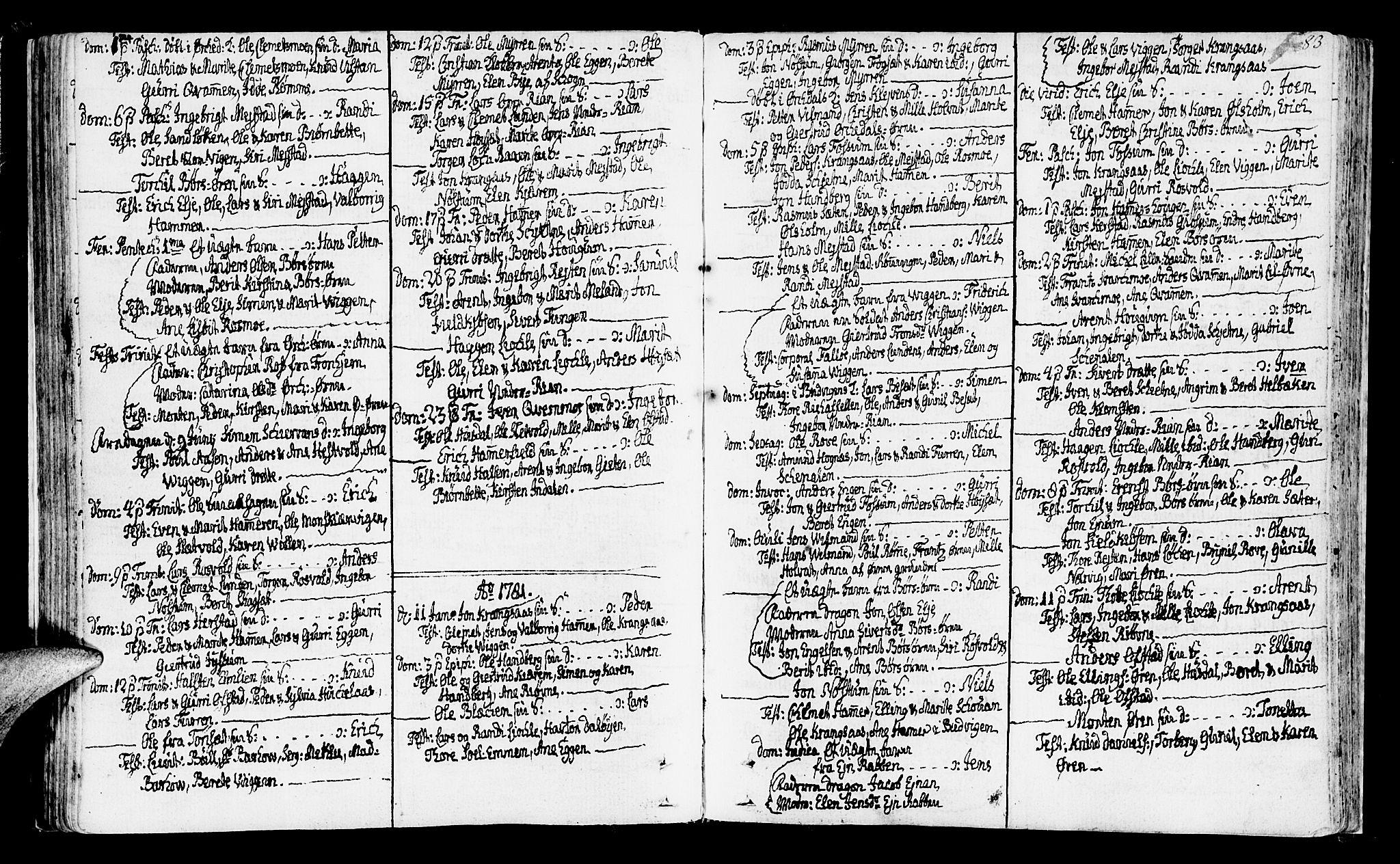 SAT, Ministerialprotokoller, klokkerbøker og fødselsregistre - Sør-Trøndelag, 665/L0768: Ministerialbok nr. 665A03, 1754-1803, s. 83