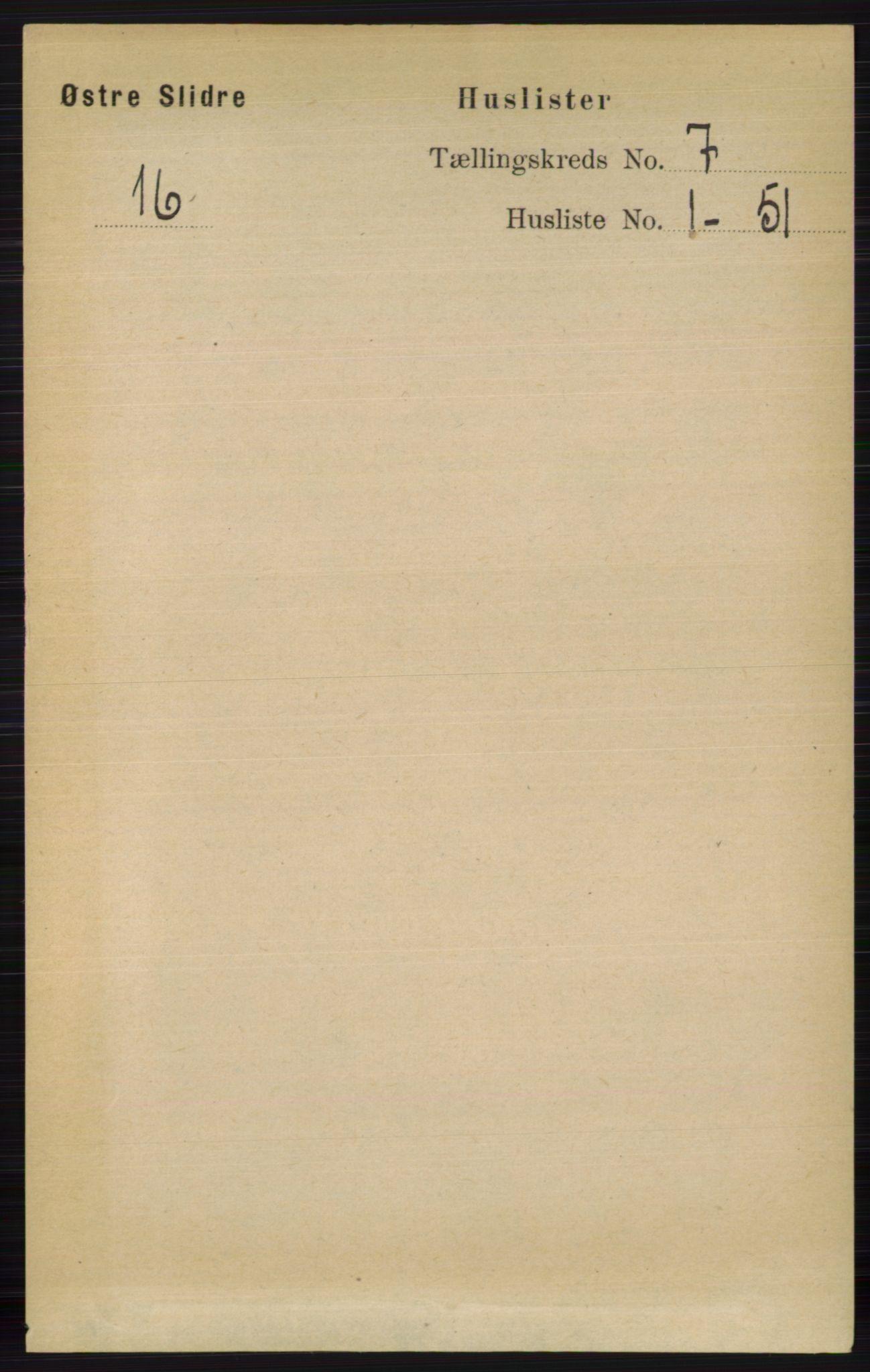 RA, Folketelling 1891 for 0544 Øystre Slidre herred, 1891, s. 2116
