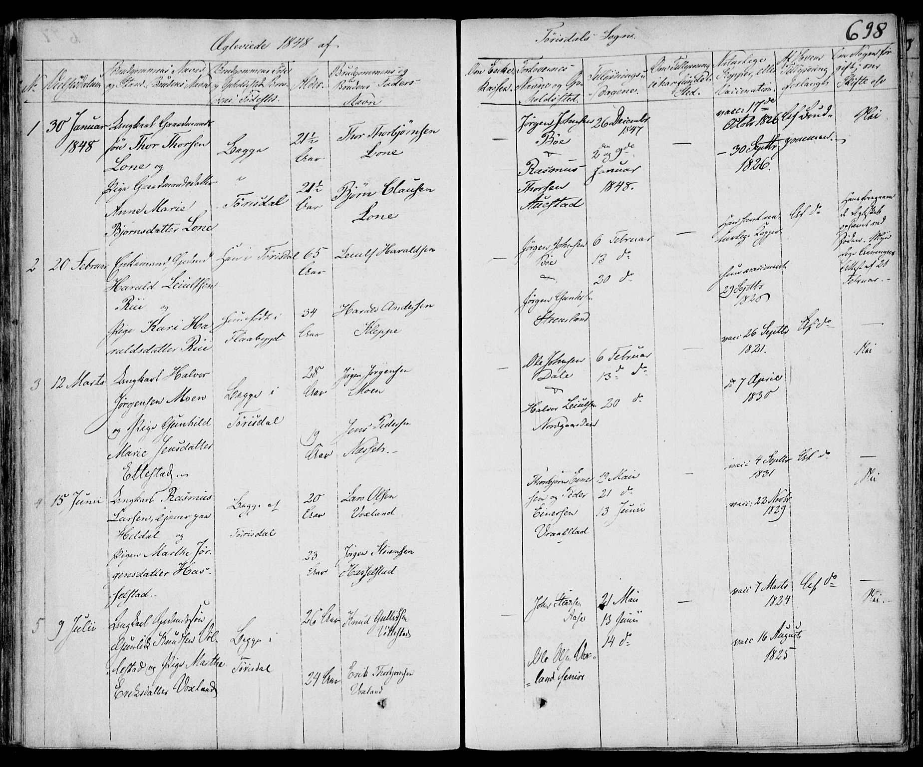 SAKO, Drangedal kirkebøker, F/Fa/L0007b: Ministerialbok nr. 7b, 1837-1856, s. 698