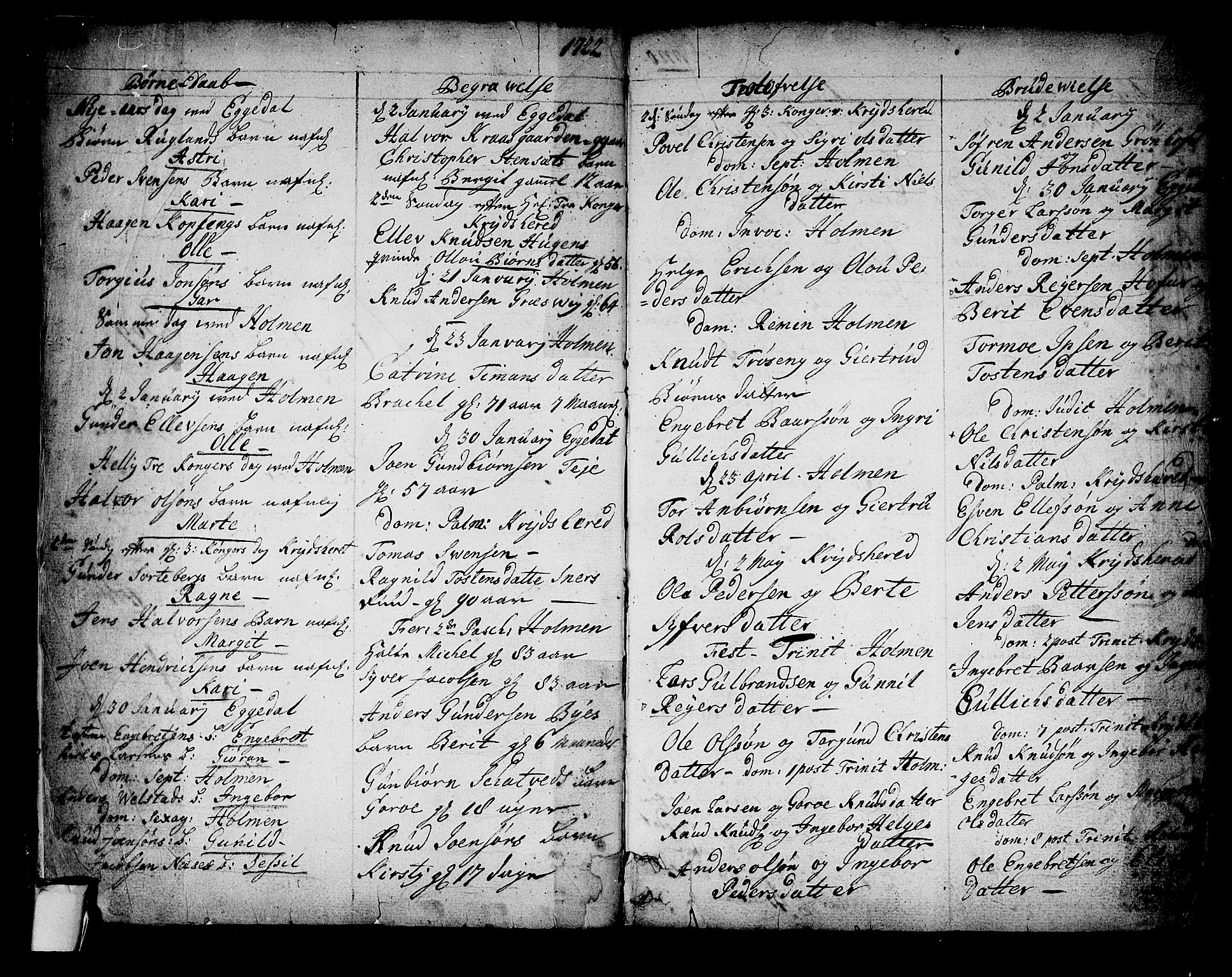 SAKO, Sigdal kirkebøker, F/Fa/L0001: Ministerialbok nr. I 1, 1722-1777, s. 2
