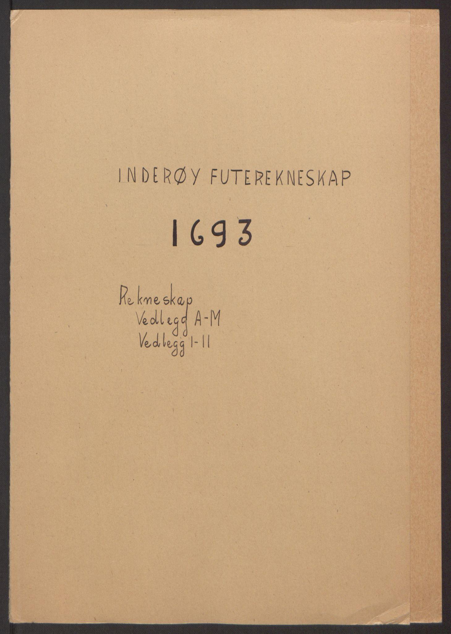 RA, Rentekammeret inntil 1814, Reviderte regnskaper, Fogderegnskap, R63/L4308: Fogderegnskap Inderøy, 1692-1694, s. 414