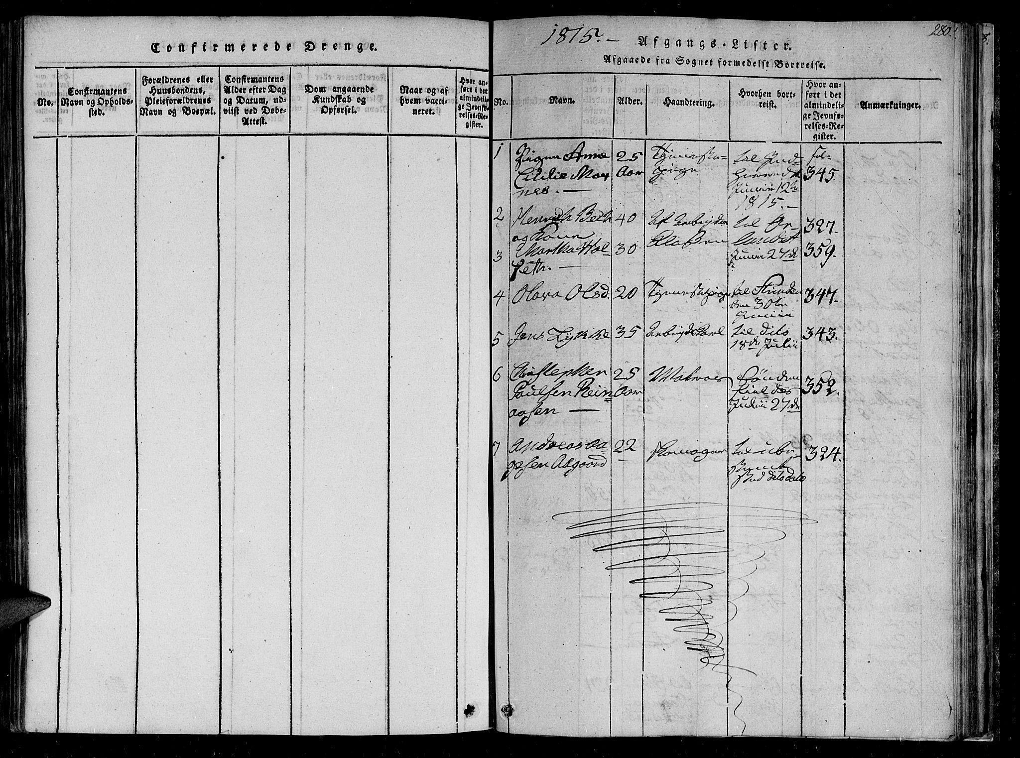 SAT, Ministerialprotokoller, klokkerbøker og fødselsregistre - Sør-Trøndelag, 602/L0107: Ministerialbok nr. 602A05, 1815-1821, s. 280