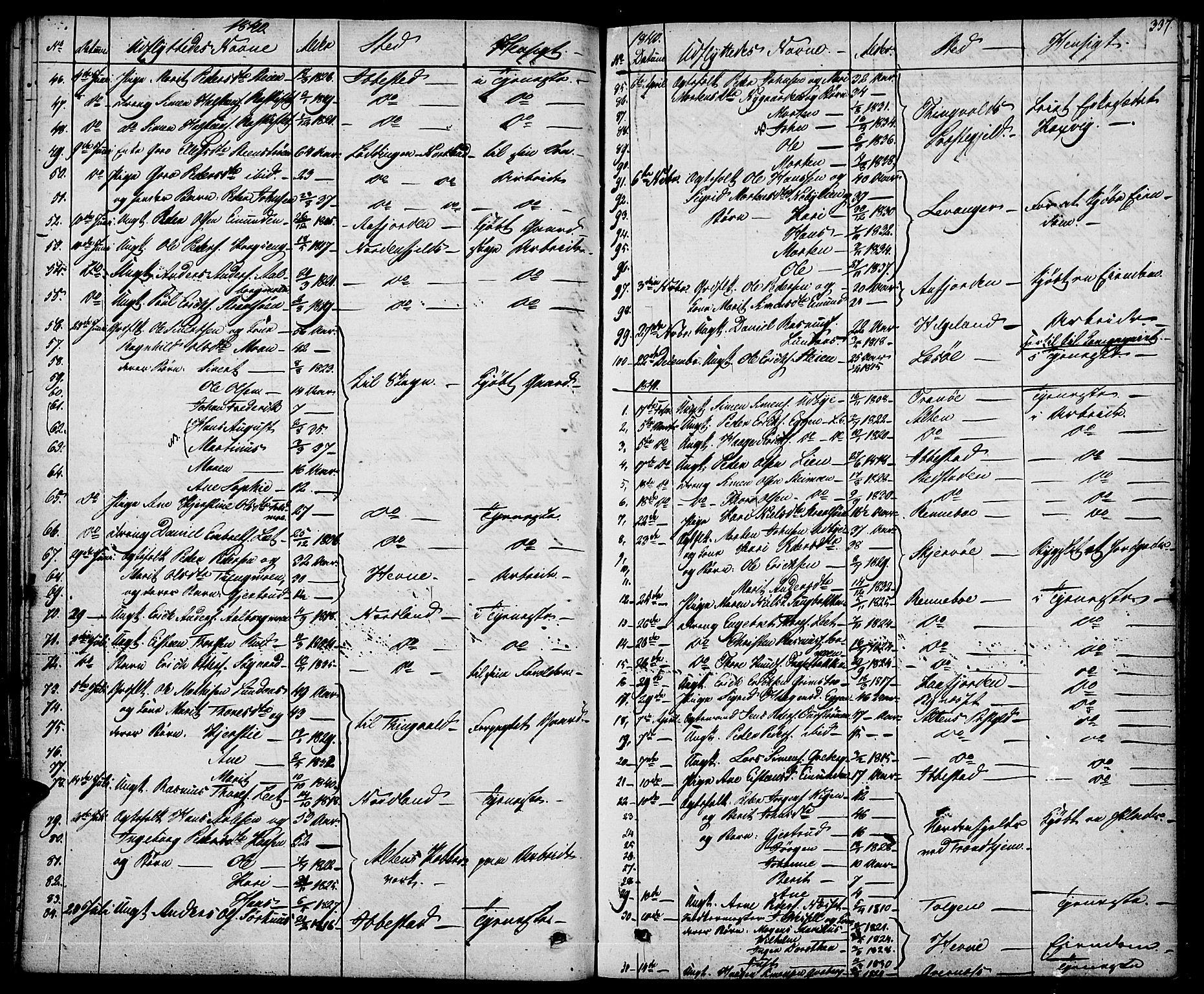 SAH, Tynset prestekontor, Ministerialbok nr. 19, 1829-1847, s. 337