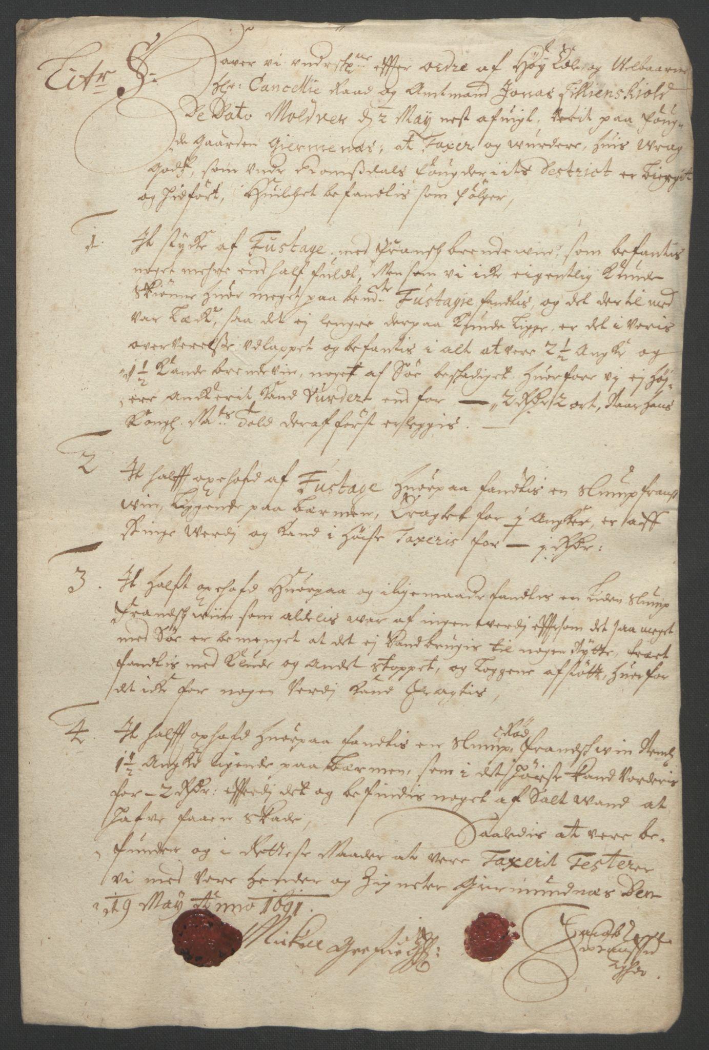 RA, Rentekammeret inntil 1814, Reviderte regnskaper, Fogderegnskap, R55/L3650: Fogderegnskap Romsdal, 1692, s. 174