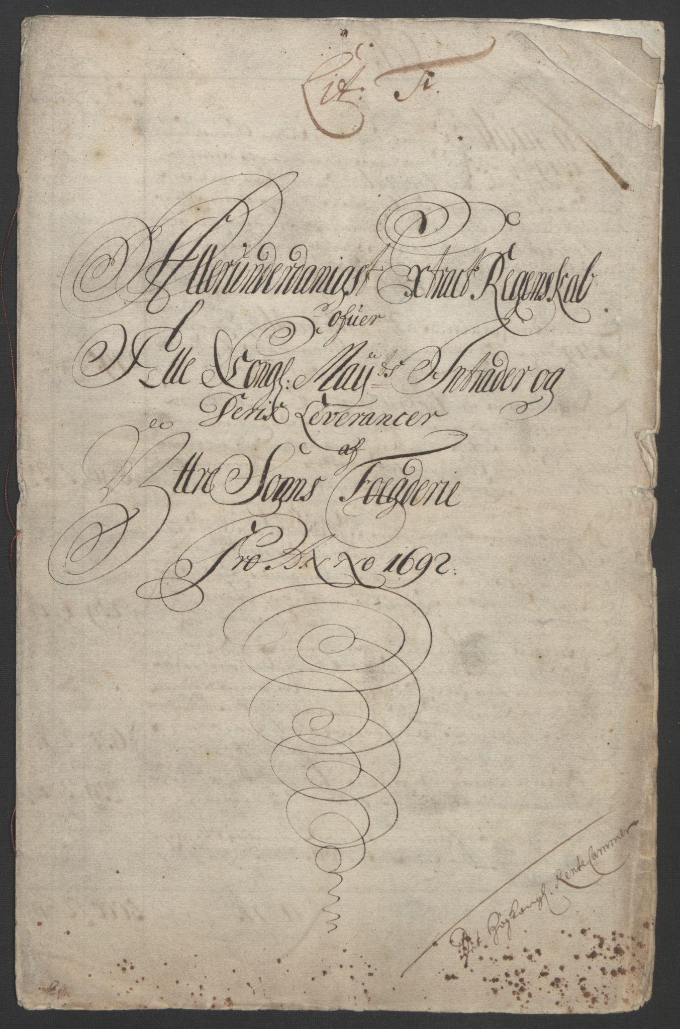 RA, Rentekammeret inntil 1814, Reviderte regnskaper, Fogderegnskap, R52/L3306: Fogderegnskap Sogn, 1691-1692, s. 264