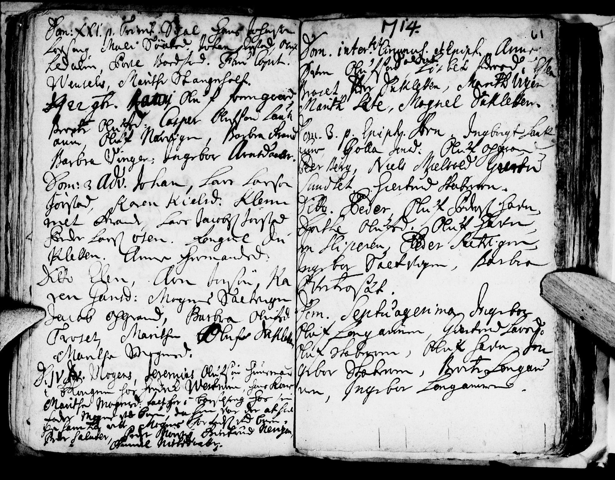 SAT, Ministerialprotokoller, klokkerbøker og fødselsregistre - Nord-Trøndelag, 722/L0214: Ministerialbok nr. 722A01, 1692-1718, s. 61
