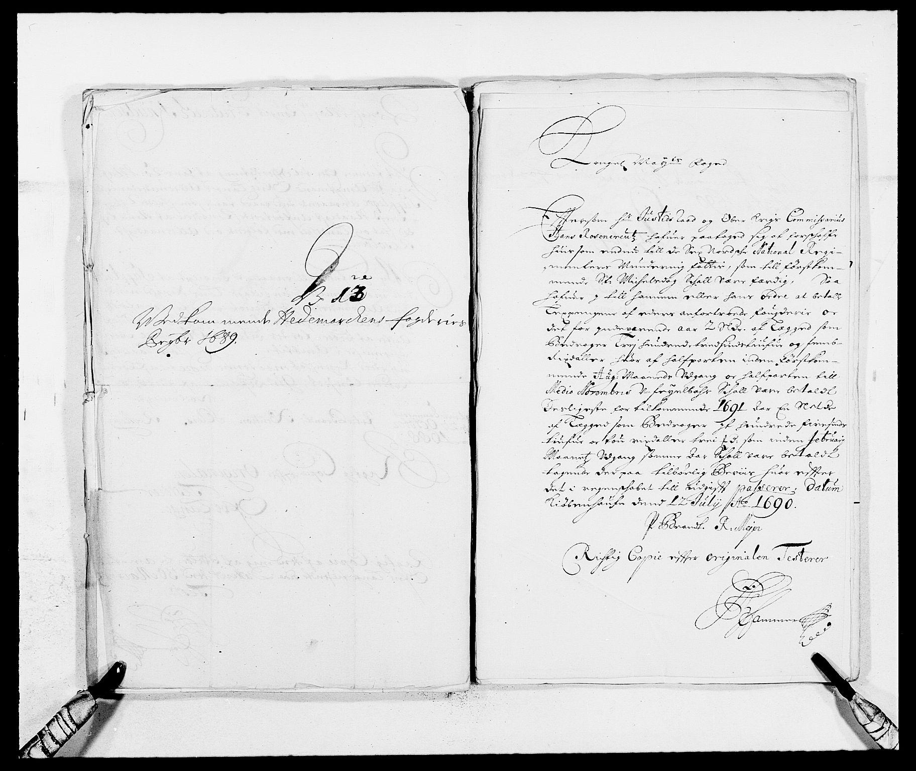 RA, Rentekammeret inntil 1814, Reviderte regnskaper, Fogderegnskap, R16/L1031: Fogderegnskap Hedmark, 1689-1692, s. 217
