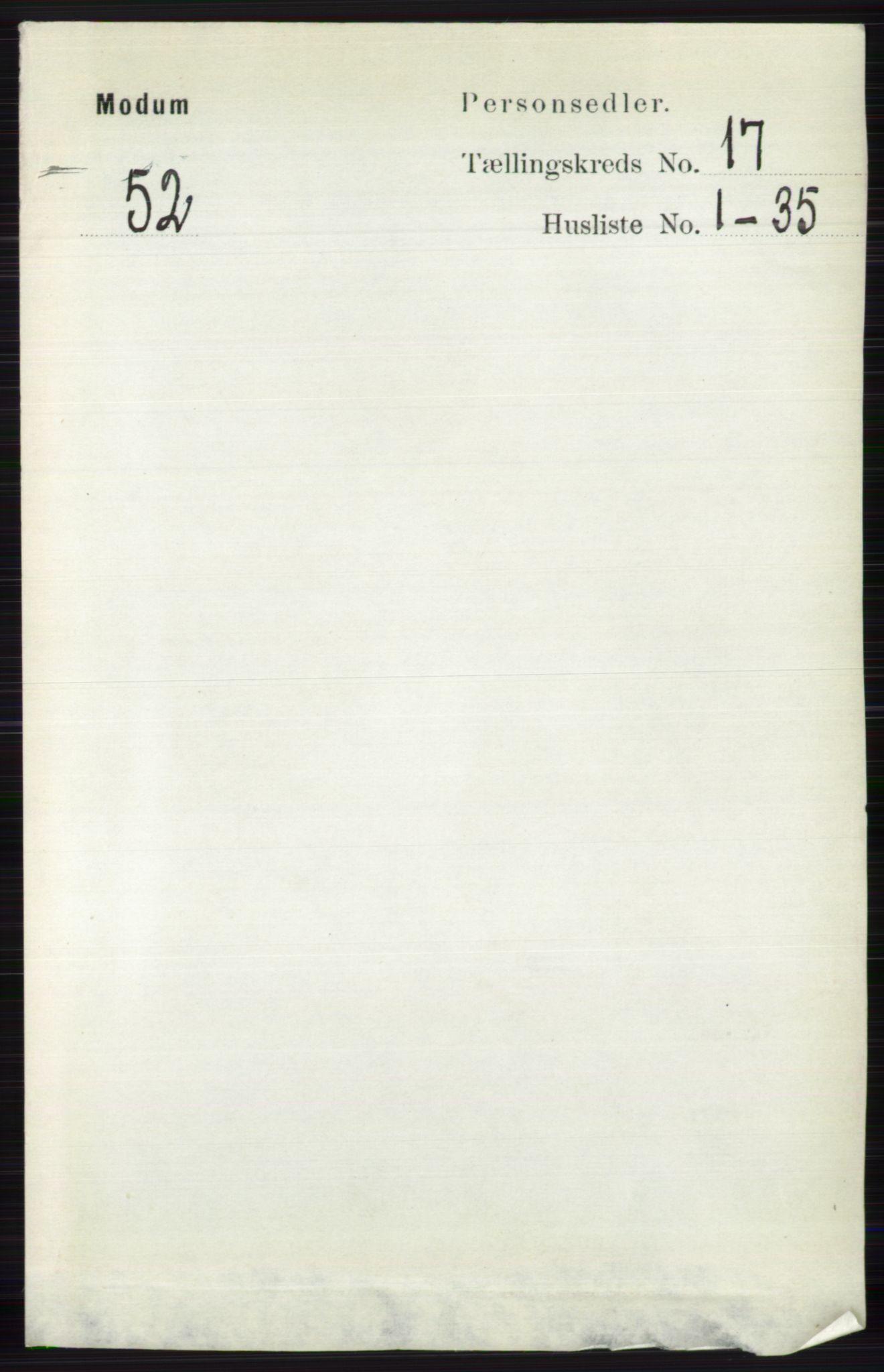 RA, Folketelling 1891 for 0623 Modum herred, 1891, s. 6632