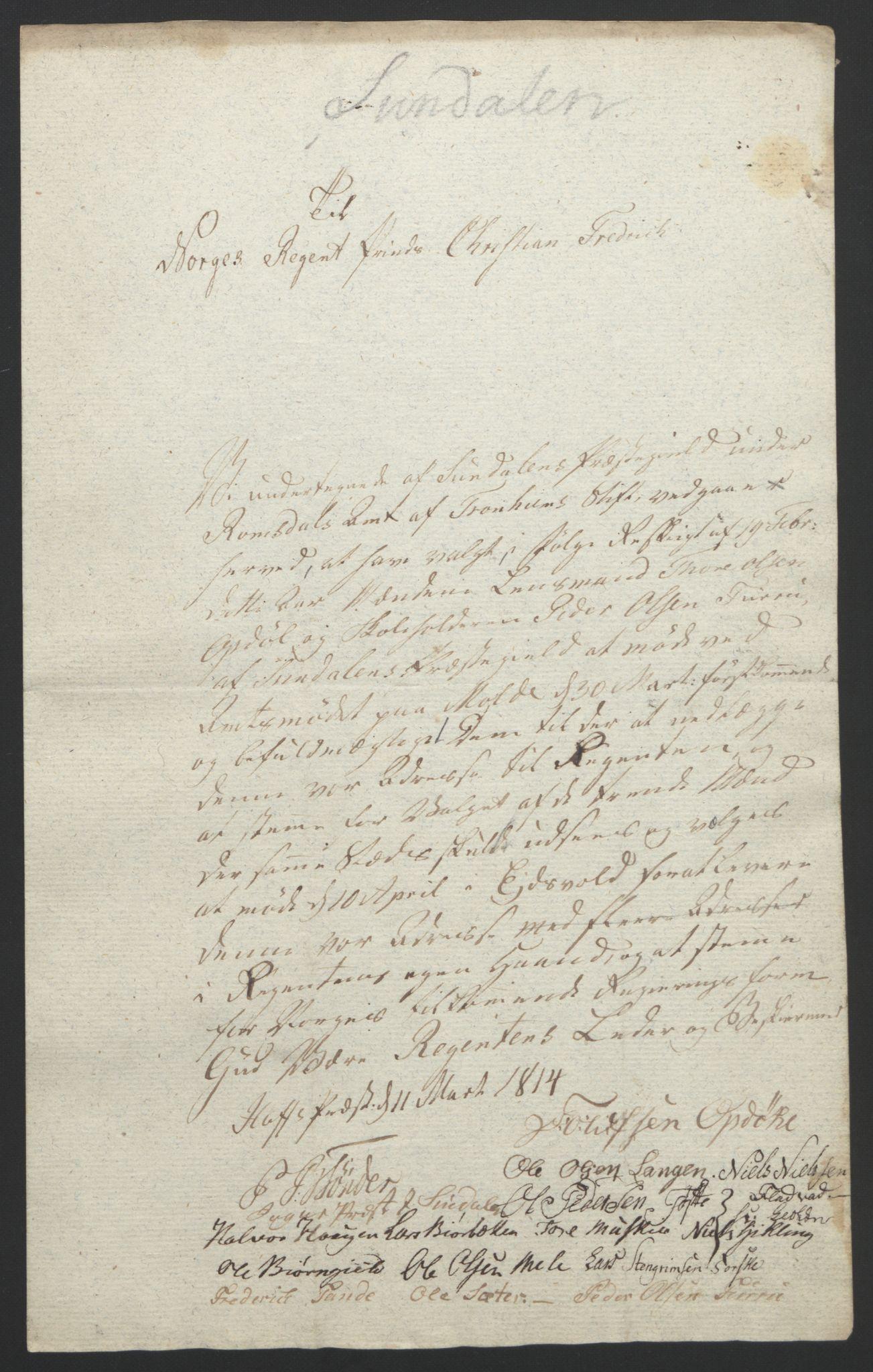 RA, Statsrådssekretariatet, D/Db/L0008: Fullmakter for Eidsvollsrepresentantene i 1814. , 1814, s. 402