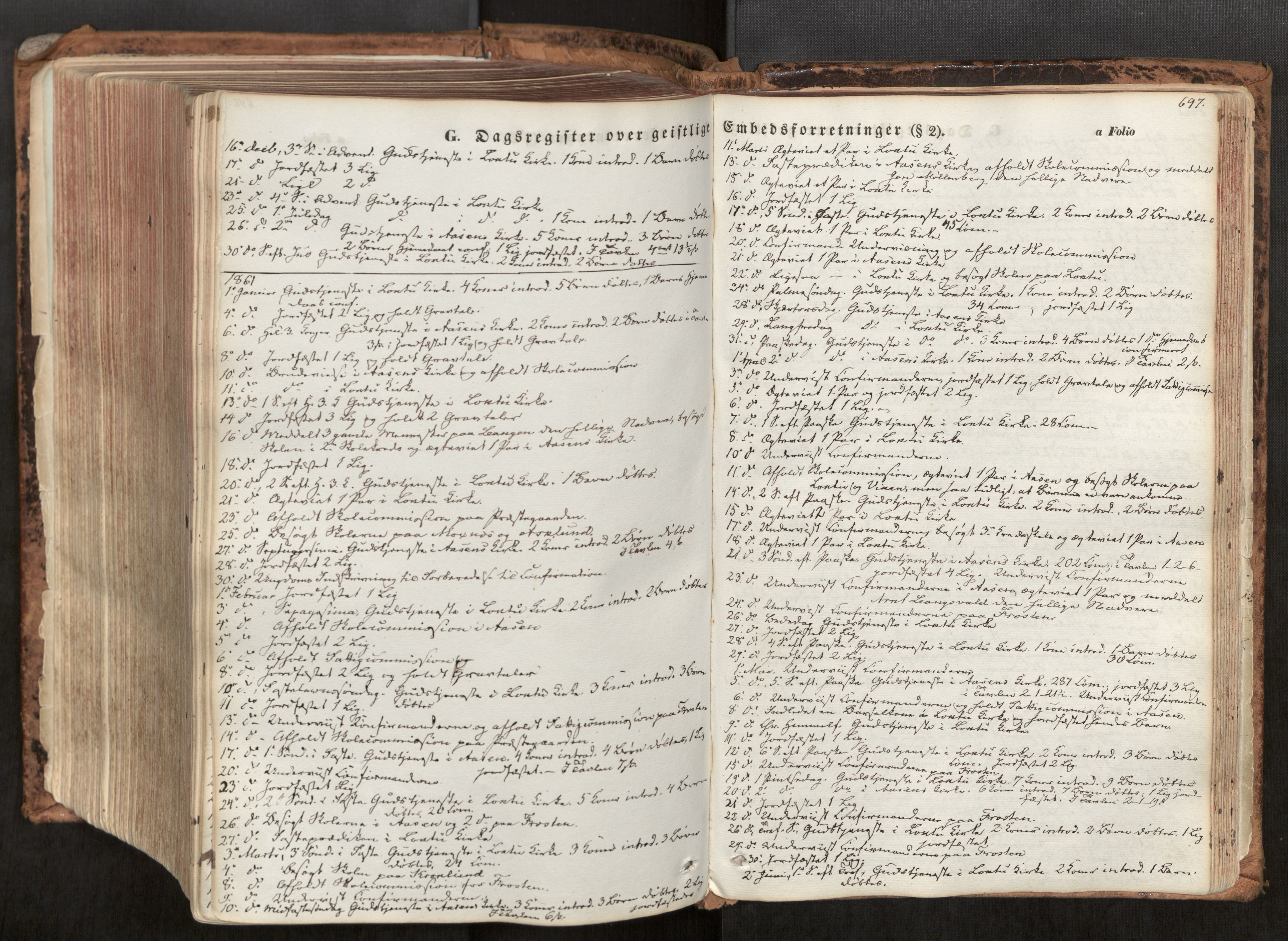 SAT, Ministerialprotokoller, klokkerbøker og fødselsregistre - Nord-Trøndelag, 713/L0116: Ministerialbok nr. 713A07, 1850-1877, s. 697