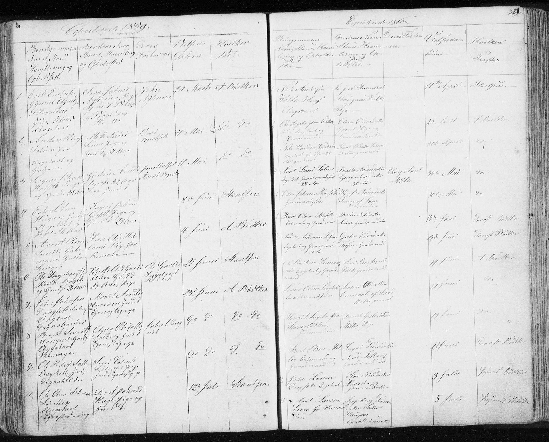 SAT, Ministerialprotokoller, klokkerbøker og fødselsregistre - Sør-Trøndelag, 689/L1043: Klokkerbok nr. 689C02, 1816-1892, s. 224
