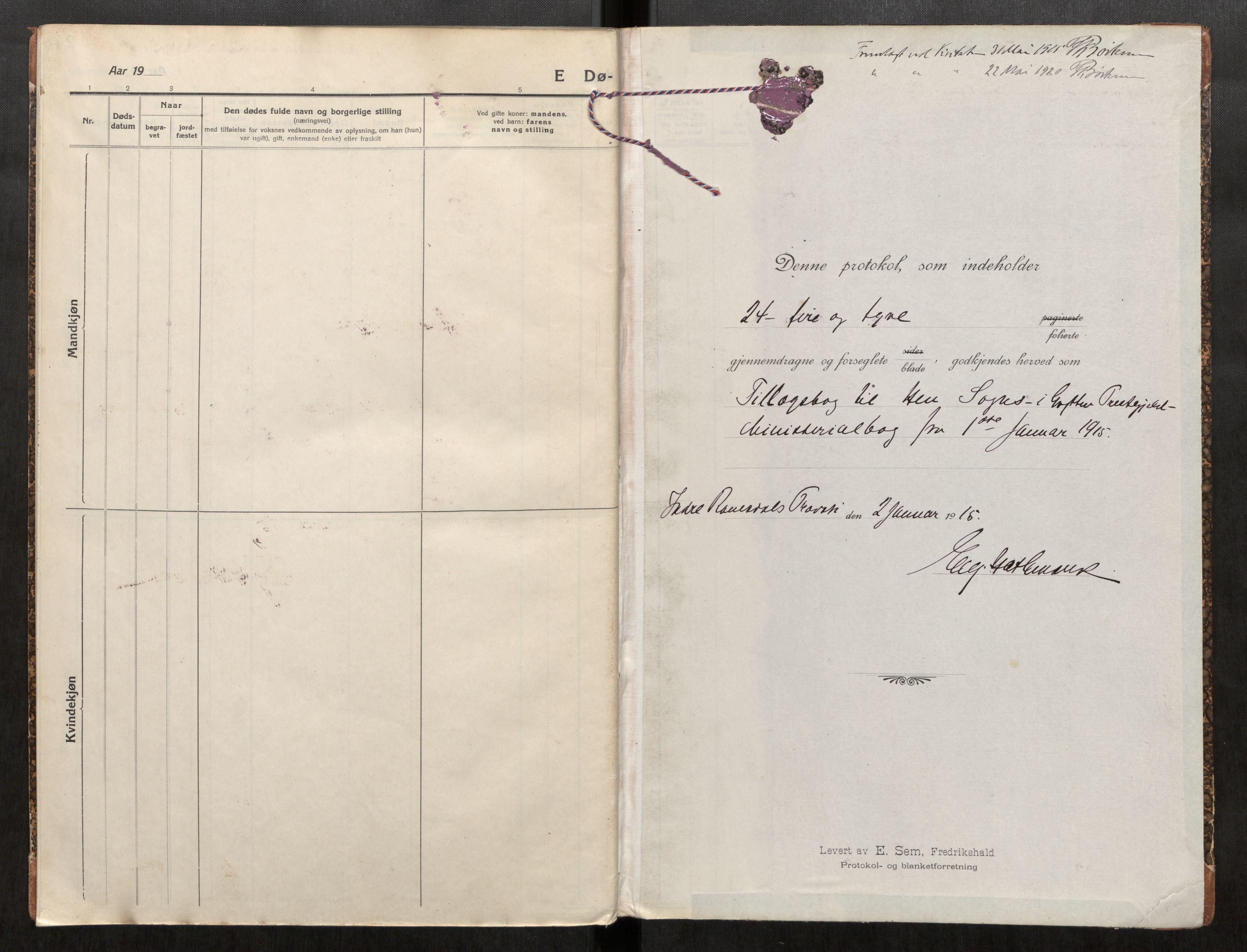 SAT, Grytten sokneprestkontor, Ministerialbok nr. 545A05, 1915-1921