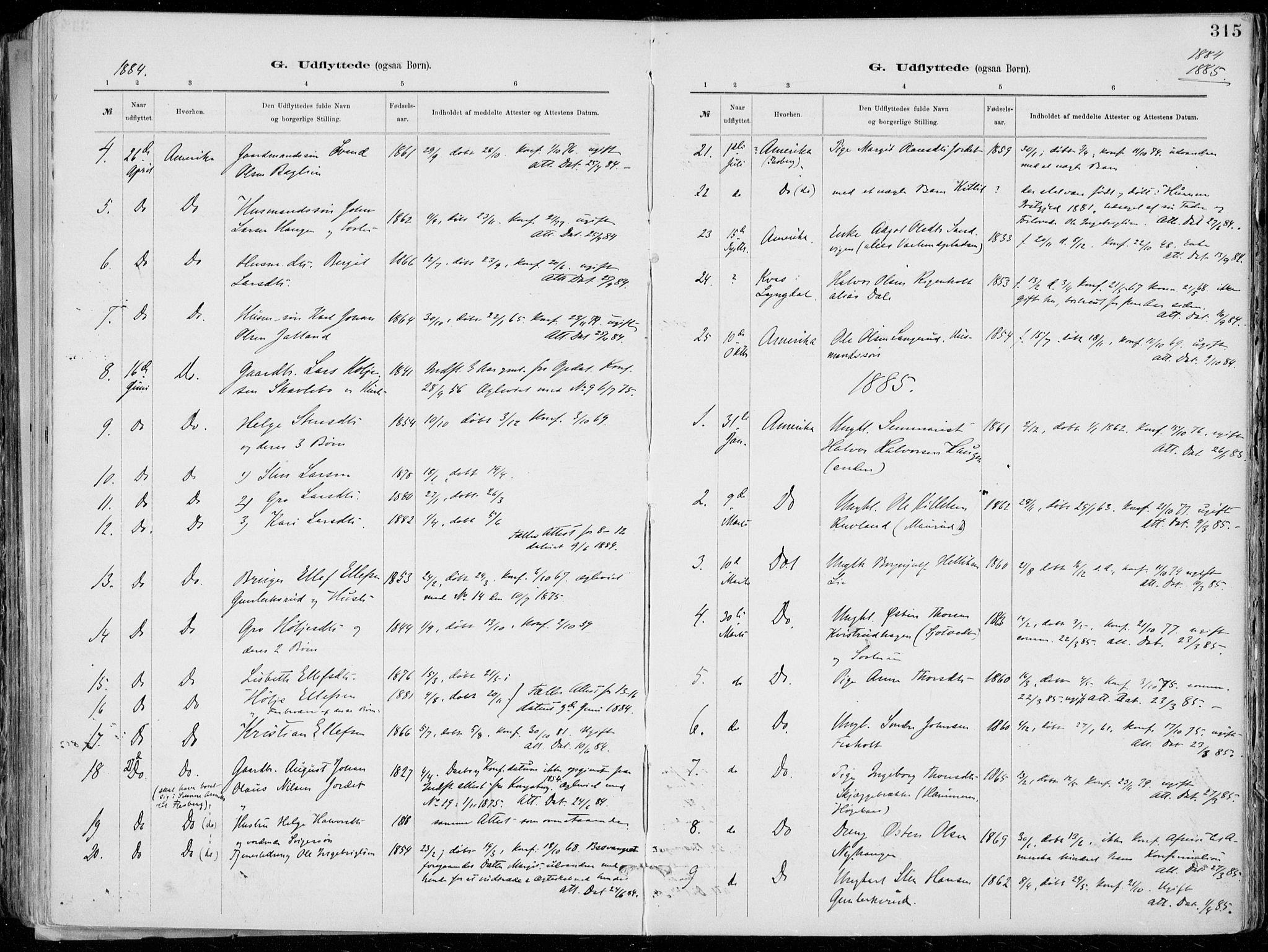 SAKO, Tinn kirkebøker, F/Fa/L0007: Ministerialbok nr. I 7, 1878-1922, s. 315