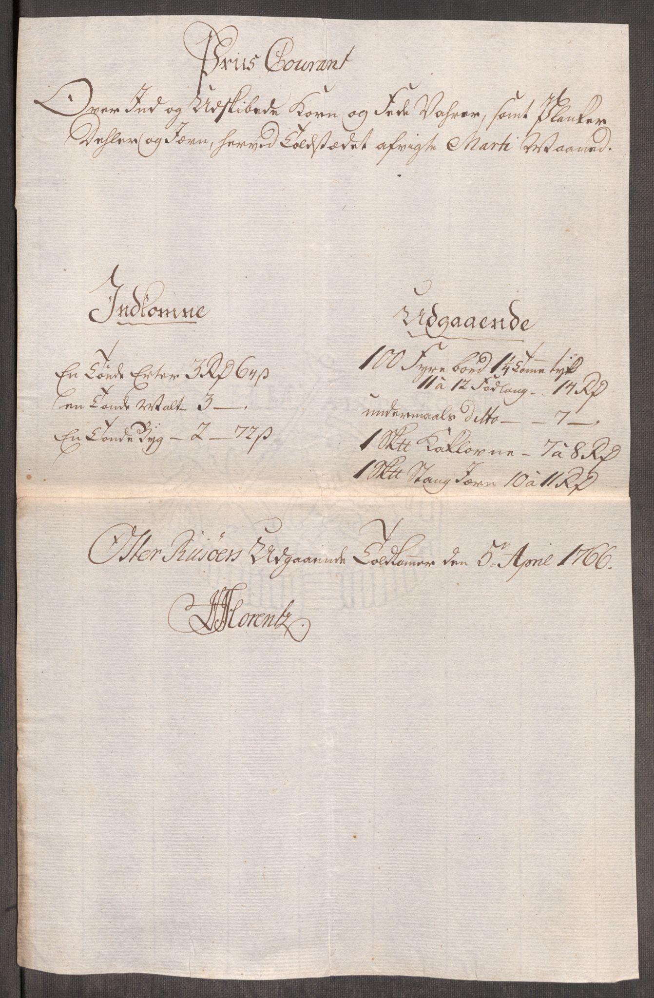 RA, Rentekammeret inntil 1814, Realistisk ordnet avdeling, Oe/L0008: [Ø1]: Priskuranter, 1764-1768, s. 656