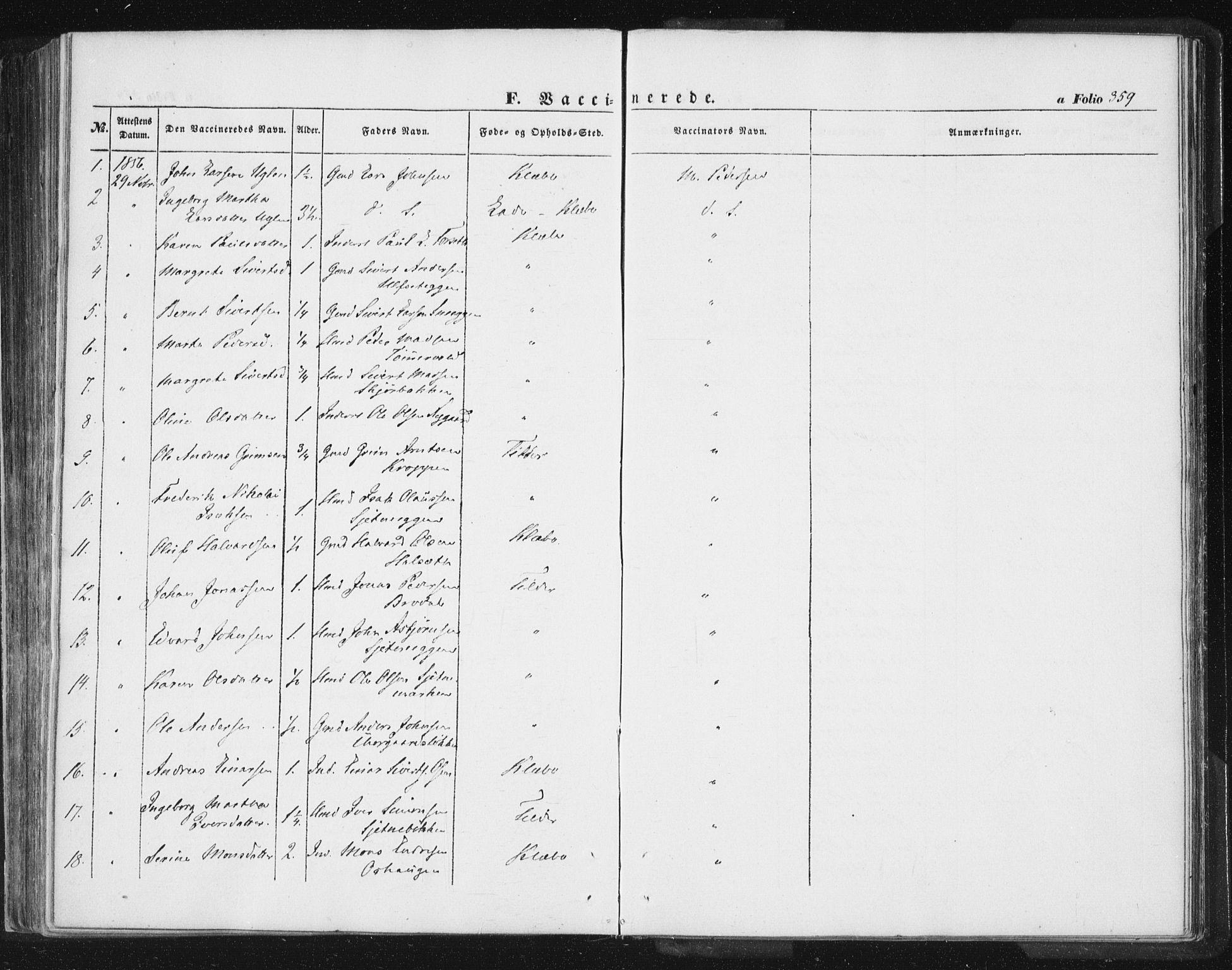 SAT, Ministerialprotokoller, klokkerbøker og fødselsregistre - Sør-Trøndelag, 618/L0441: Ministerialbok nr. 618A05, 1843-1862, s. 359