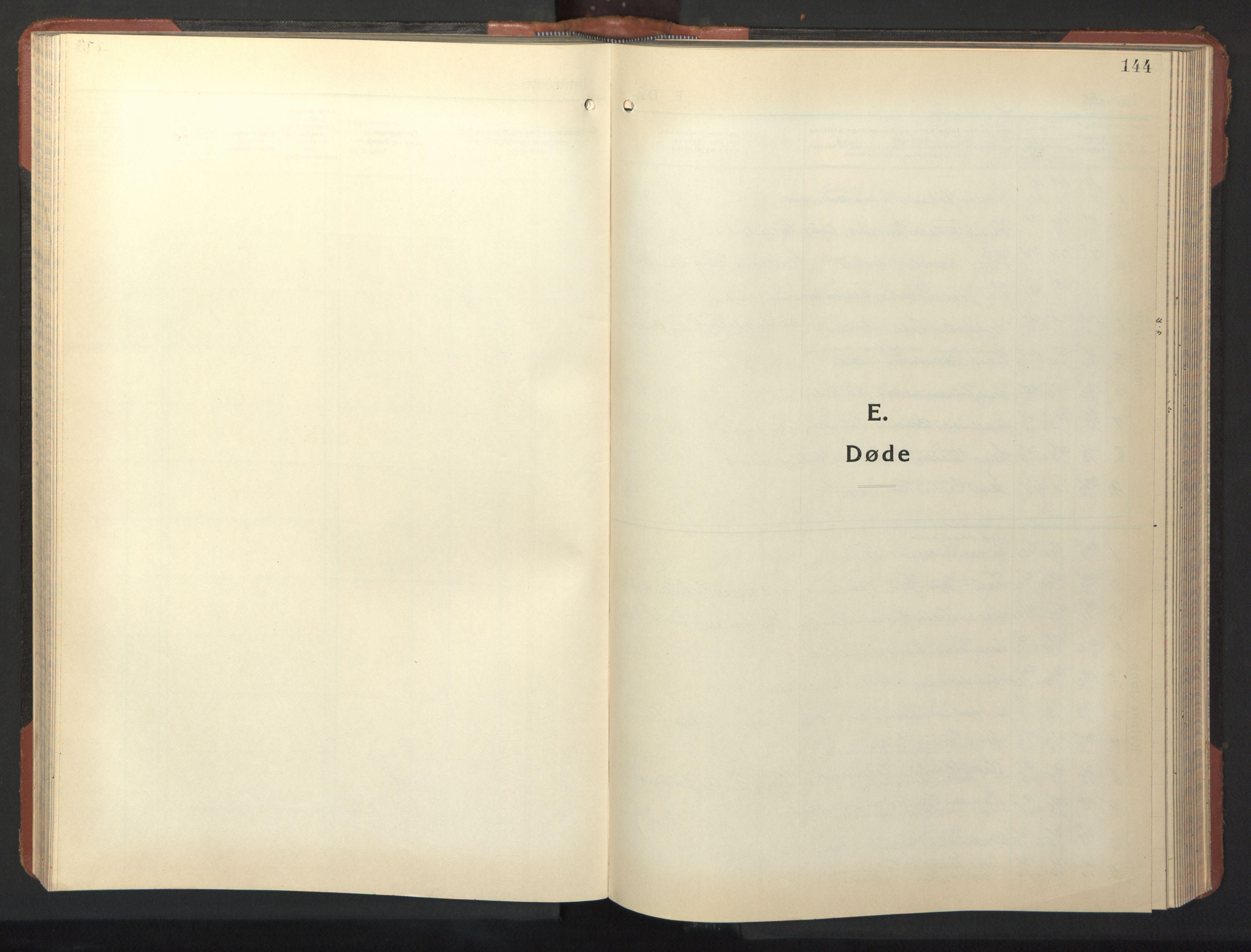 SAT, Ministerialprotokoller, klokkerbøker og fødselsregistre - Nordland, 801/L0038: Klokkerbok nr. 801C13, 1935-1951, s. 144
