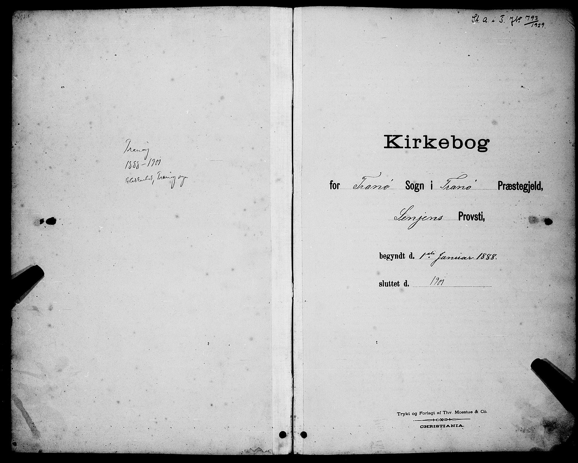 SATØ, Tranøy sokneprestkontor, I/Ia/Iab/L0004klokker: Klokkerbok nr. 4, 1888-1901