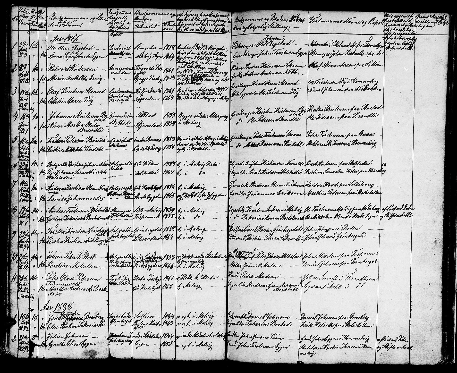 SAT, Ministerialprotokoller, klokkerbøker og fødselsregistre - Sør-Trøndelag, 616/L0422: Klokkerbok nr. 616C05, 1850-1888, s. 150