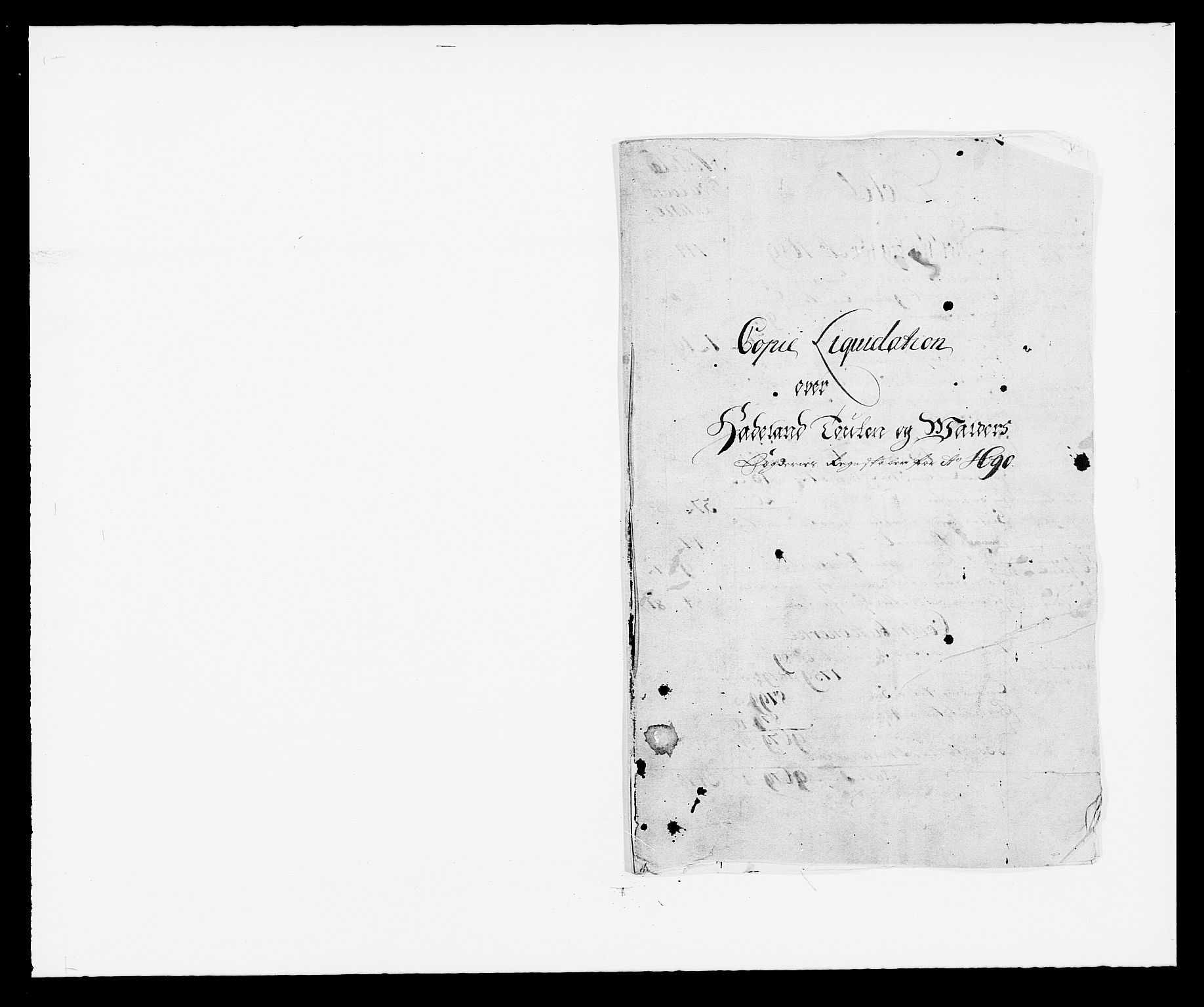 RA, Rentekammeret inntil 1814, Reviderte regnskaper, Fogderegnskap, R18/L1289: Fogderegnskap Hadeland, Toten og Valdres, 1690, s. 11