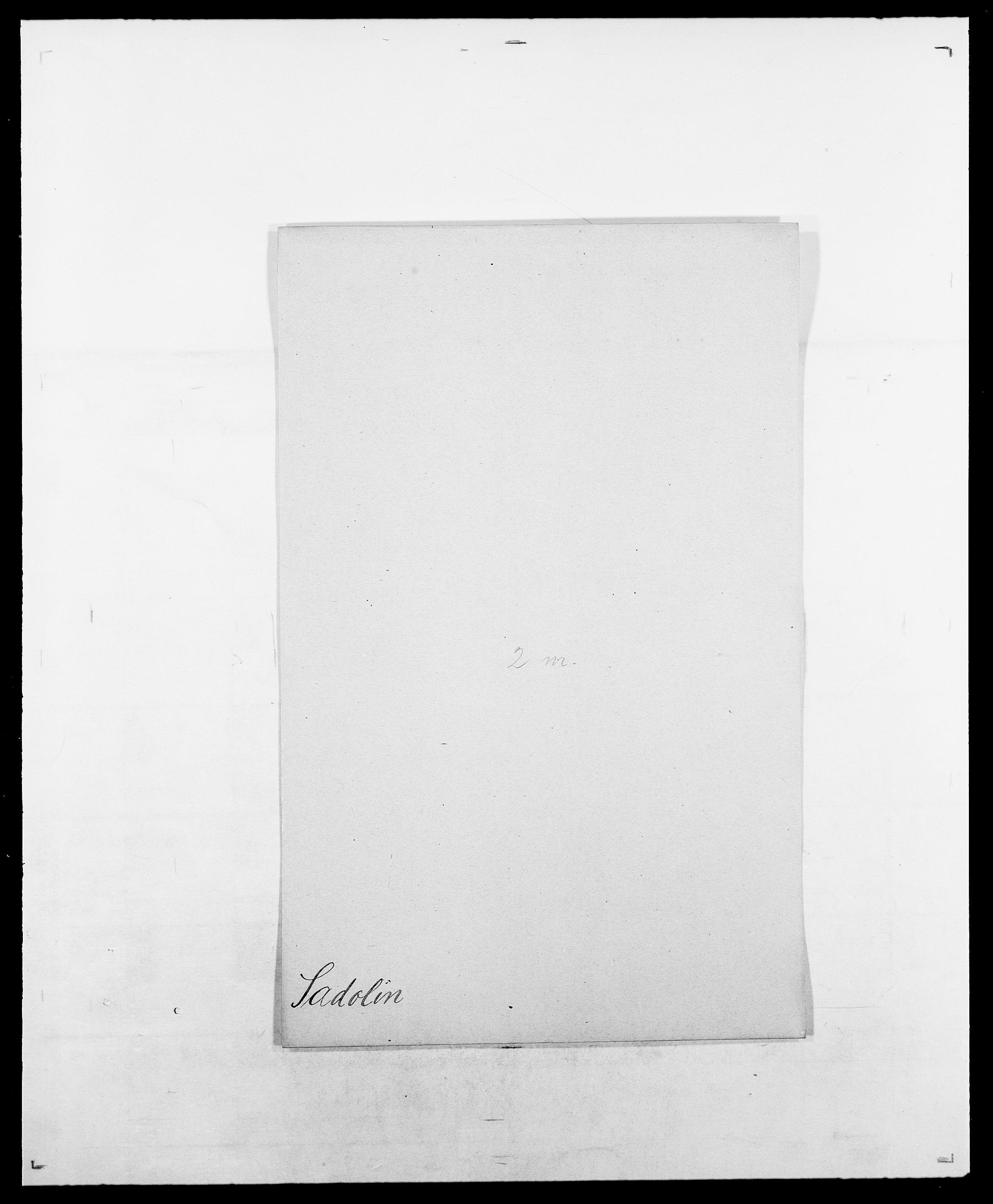 SAO, Delgobe, Charles Antoine - samling, D/Da/L0034: Saabye - Schmincke, s. 23