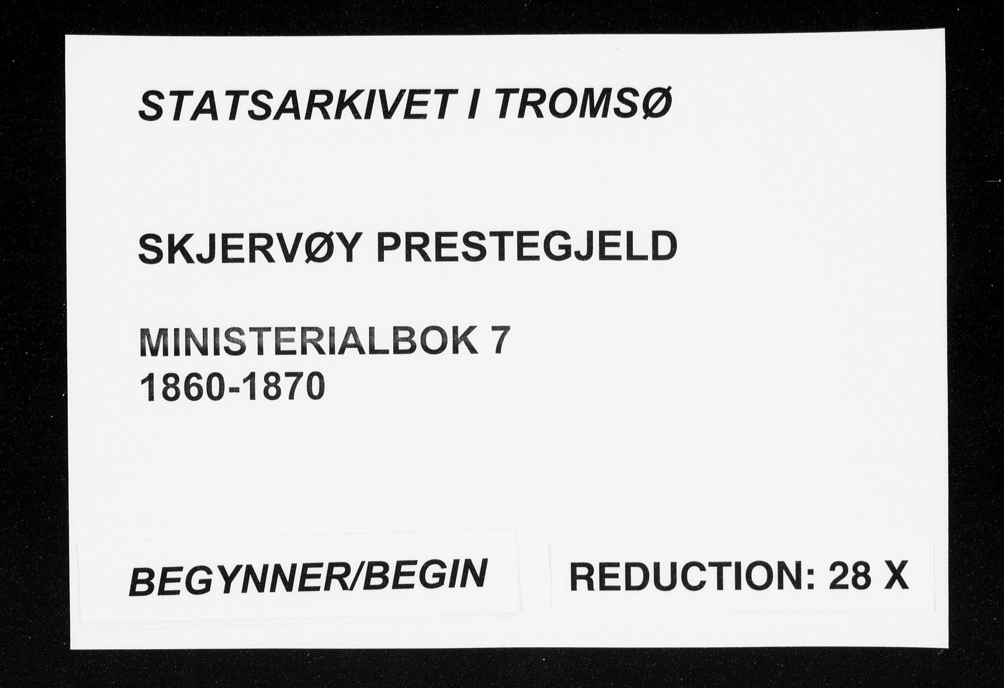 SATØ, Skjervøy sokneprestkontor, H/Ha/Haa/L0007kirke: Ministerialbok nr. 7, 1860-1870