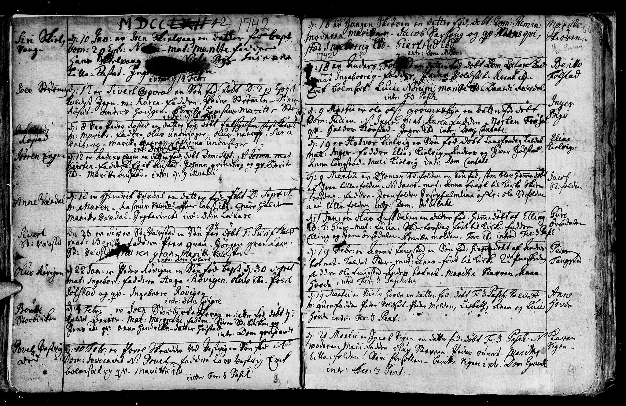 SAT, Ministerialprotokoller, klokkerbøker og fødselsregistre - Nord-Trøndelag, 730/L0272: Ministerialbok nr. 730A01, 1733-1764, s. 66