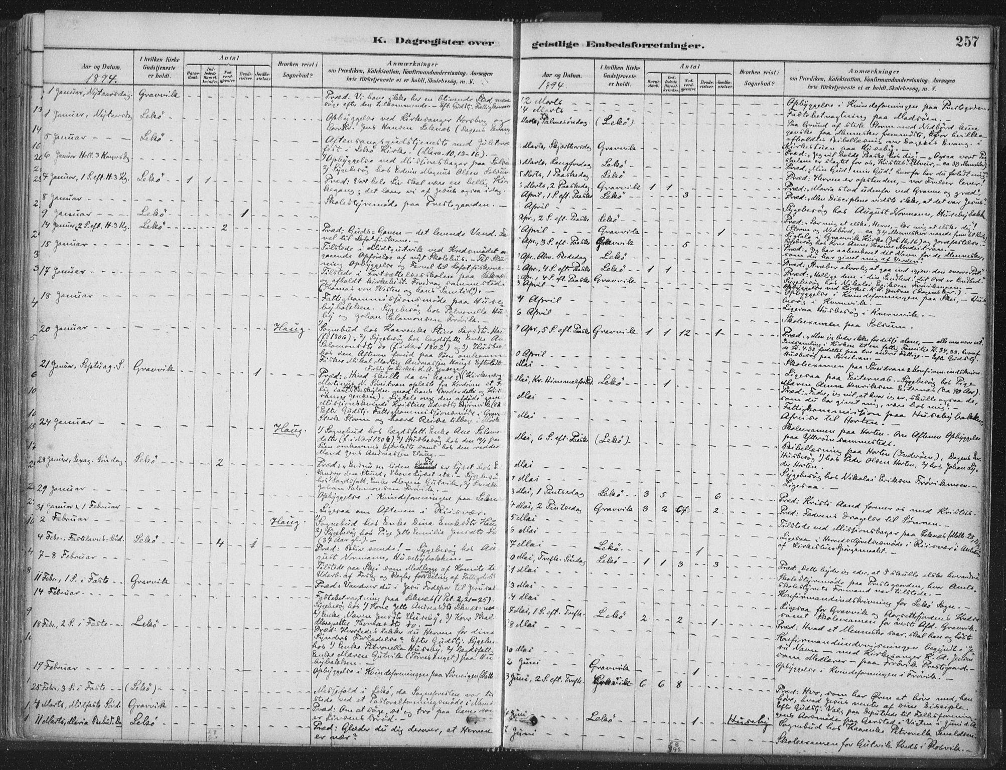 SAT, Ministerialprotokoller, klokkerbøker og fødselsregistre - Nord-Trøndelag, 788/L0697: Ministerialbok nr. 788A04, 1878-1902, s. 257